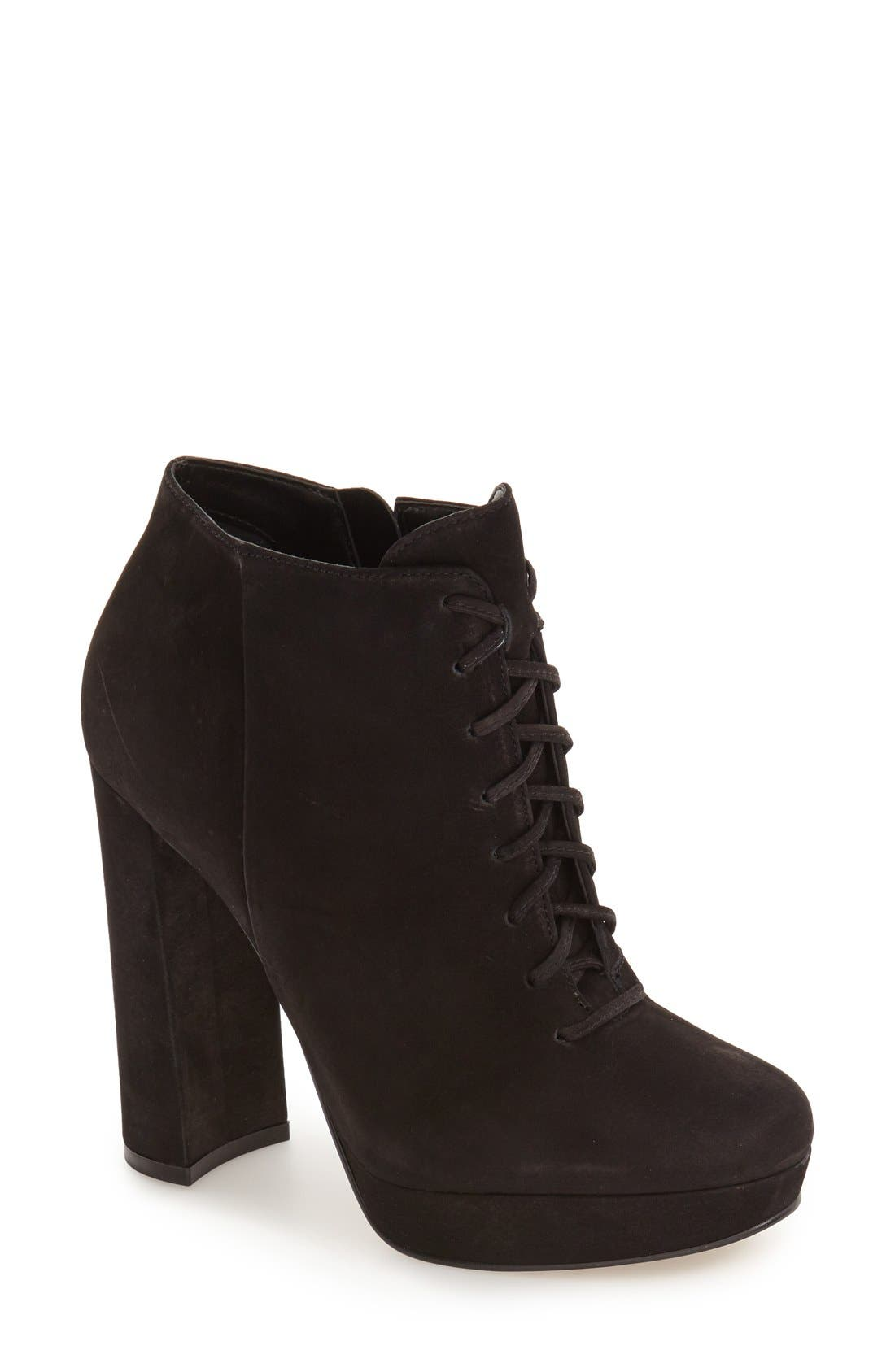 Alternate Image 1 Selected - Steve Madden 'Jolte' Lace-Up Bootie (Women)