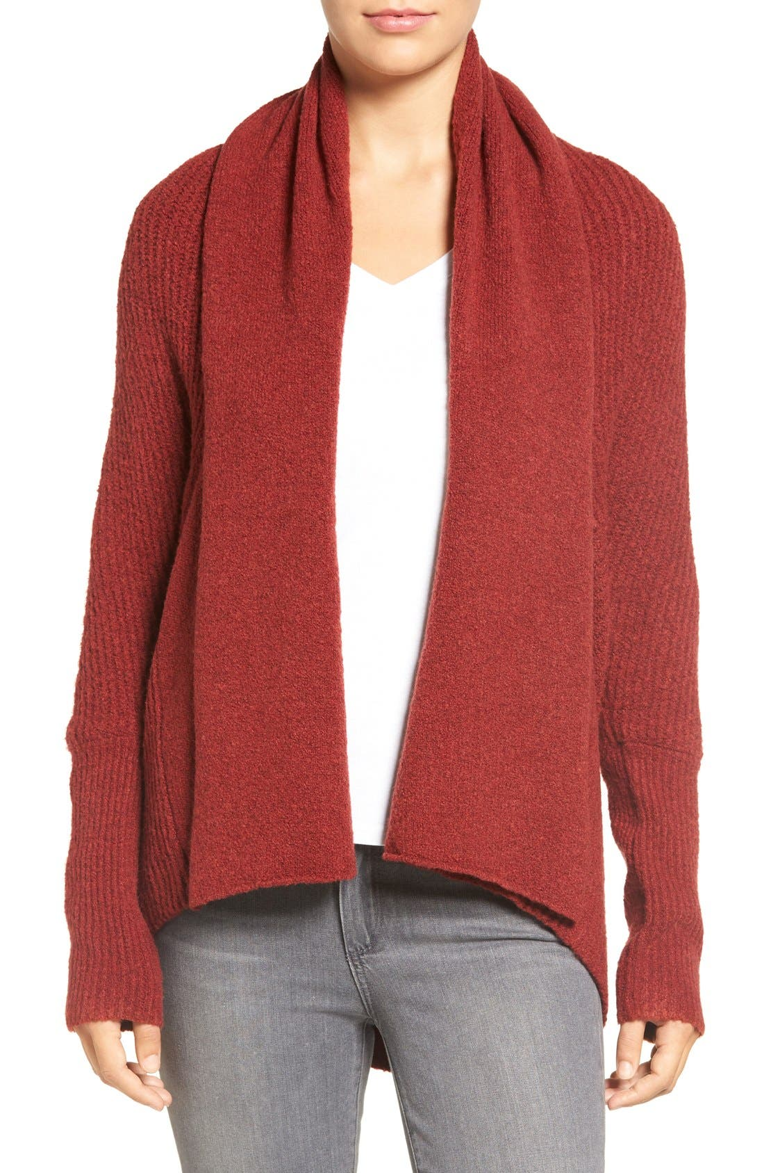 Alternate Image 1 Selected - Chelsea28 Dolman Sleeve Open Front Cardigan