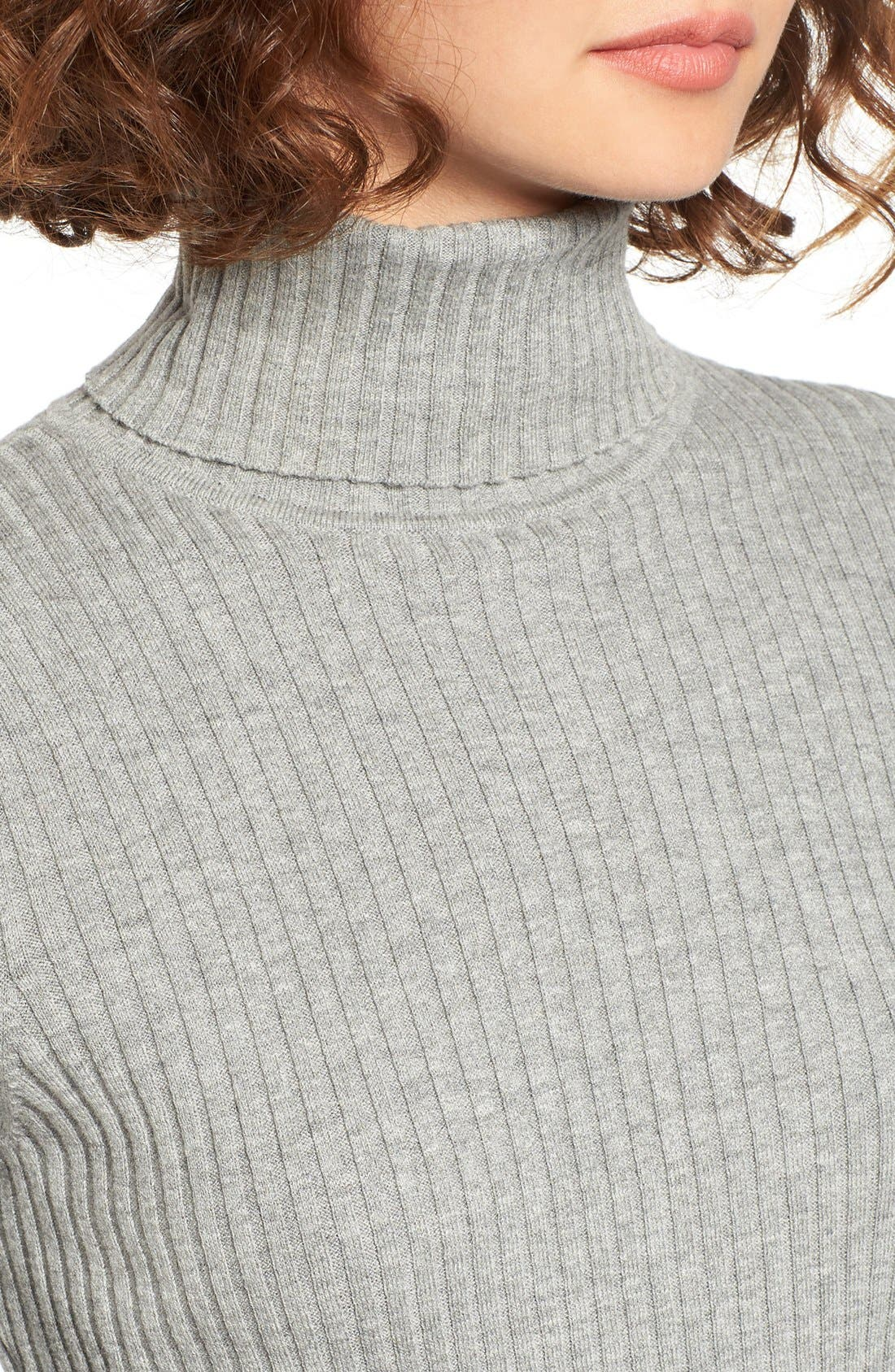 Alternate Image 4  - BP. Rib Knit Turtleneck Sweater
