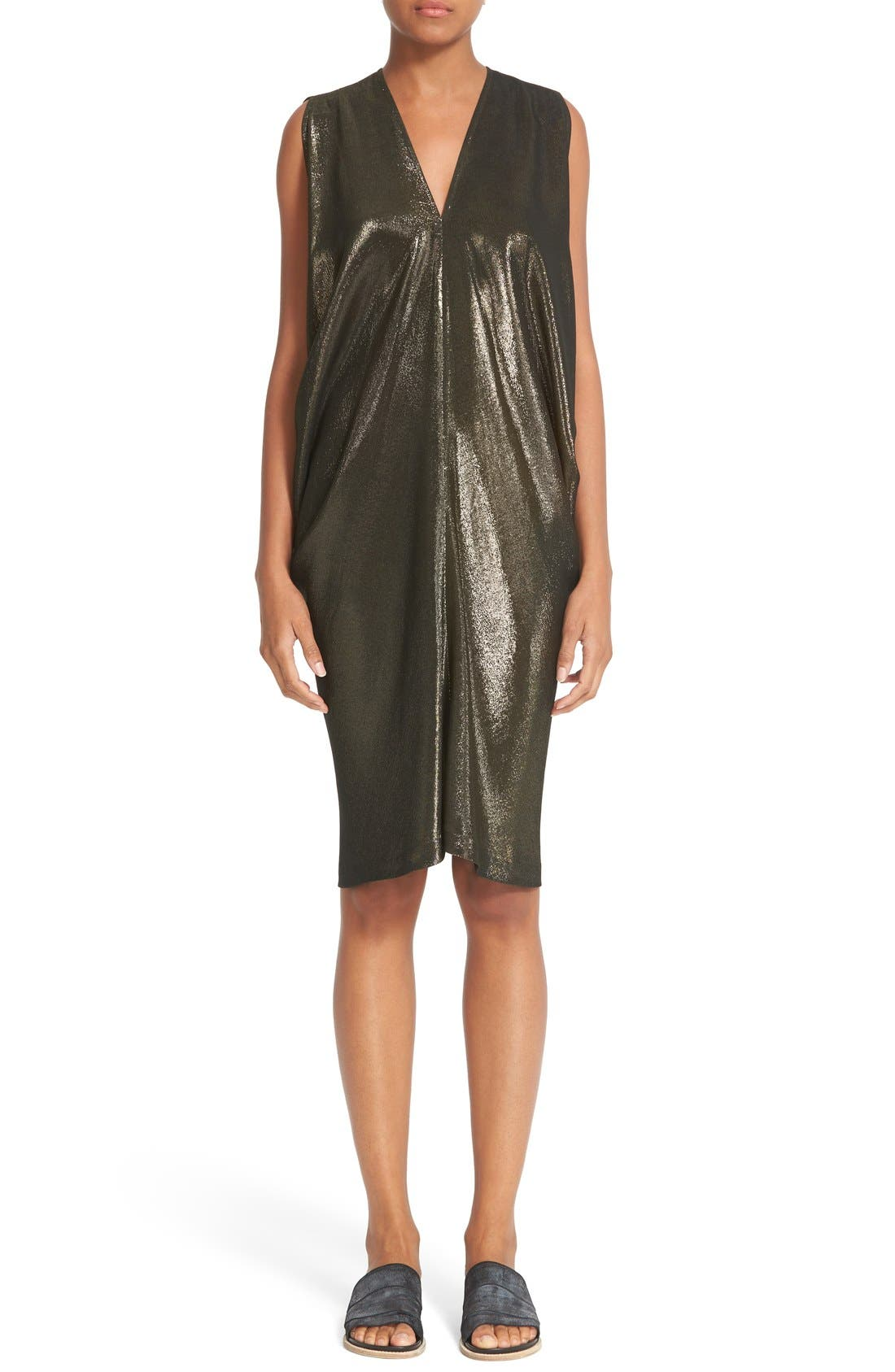 ZERO + MARIA CORNEJO 'Libi' Shine Drape Dress