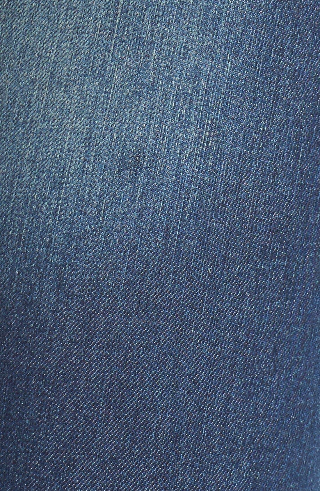 Alternate Image 5  - Cheap Monday Released Hem Skinny Jeans (Fall Blue)