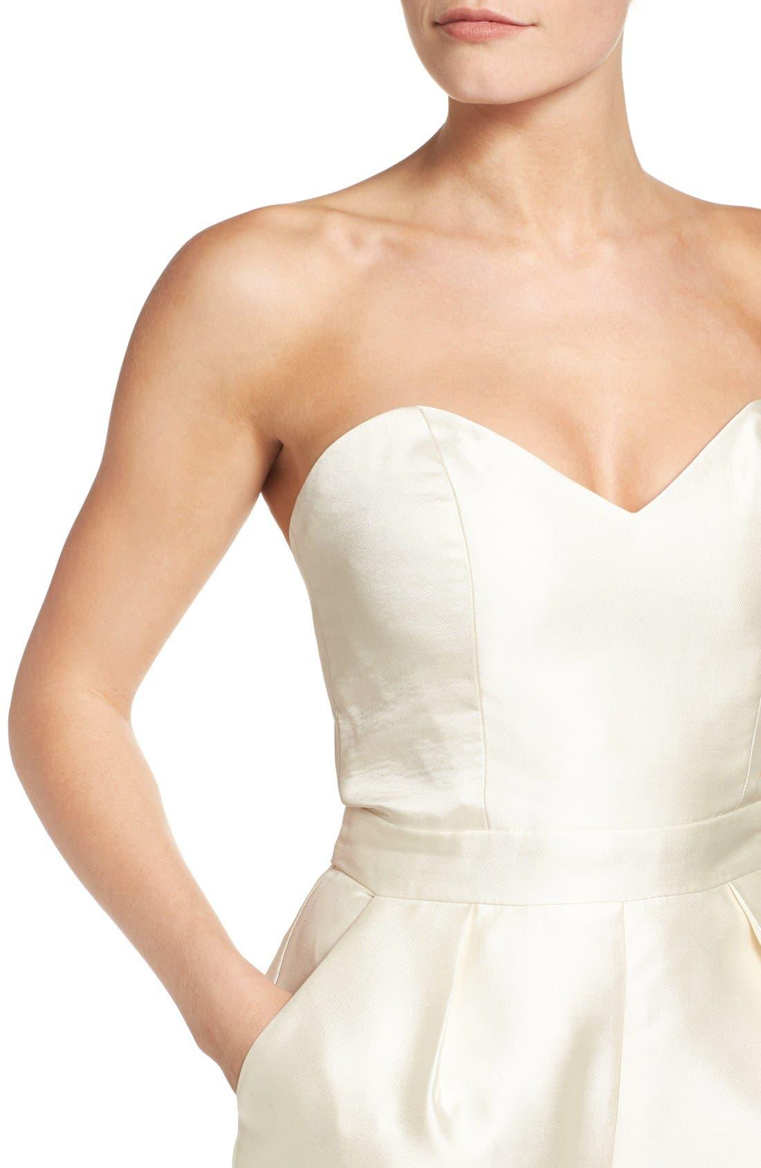 Alternate Image 4  - Paper Crown Milan Strapless Culotte Jumpsuit