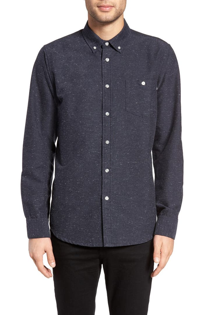 Obey hadley slim fit nep flannel woven shirt nordstrom for Women s slim fit flannel shirt