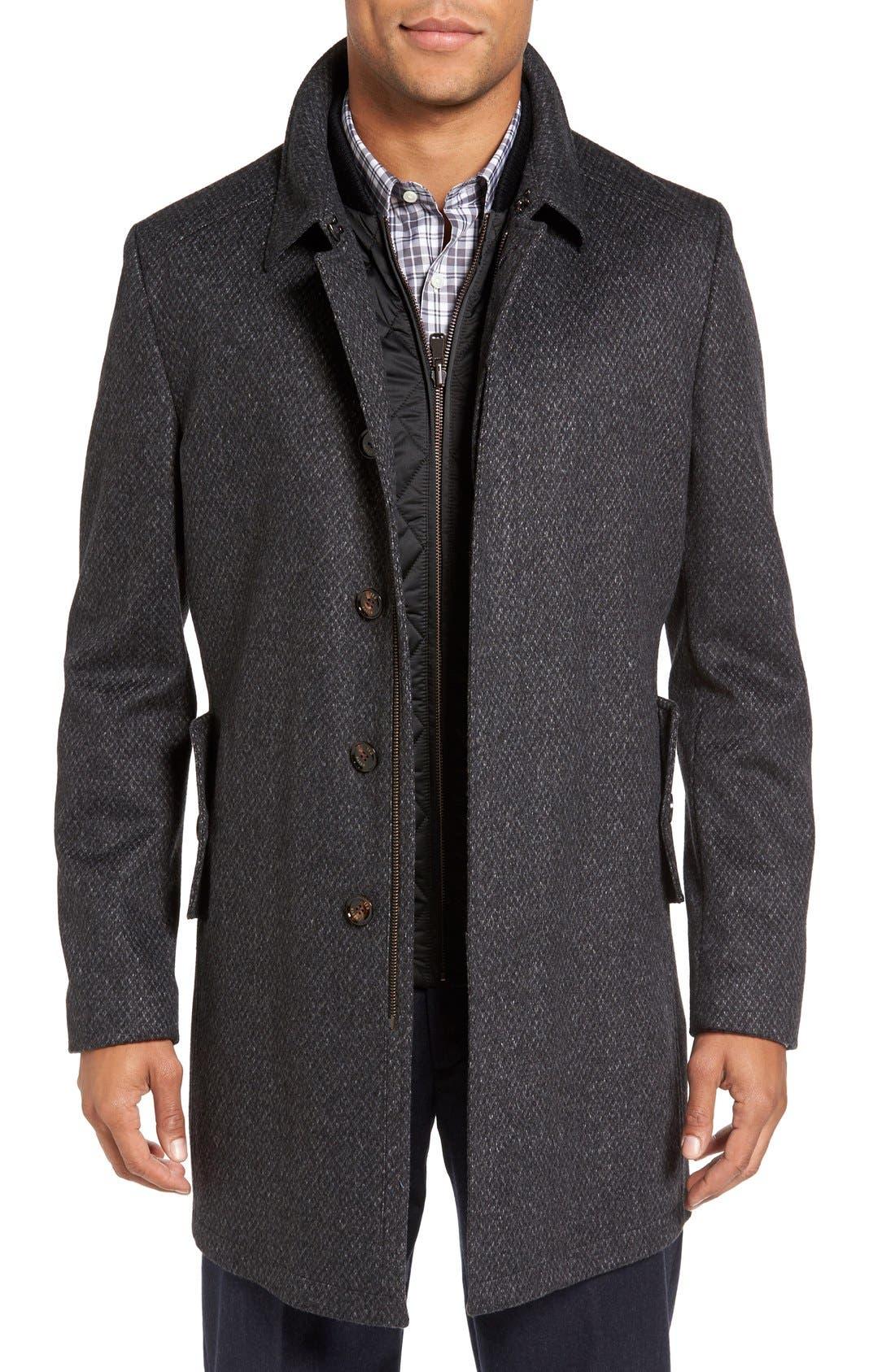 Main Image - Ted Baker London Arizona Wool Blend Overcoat
