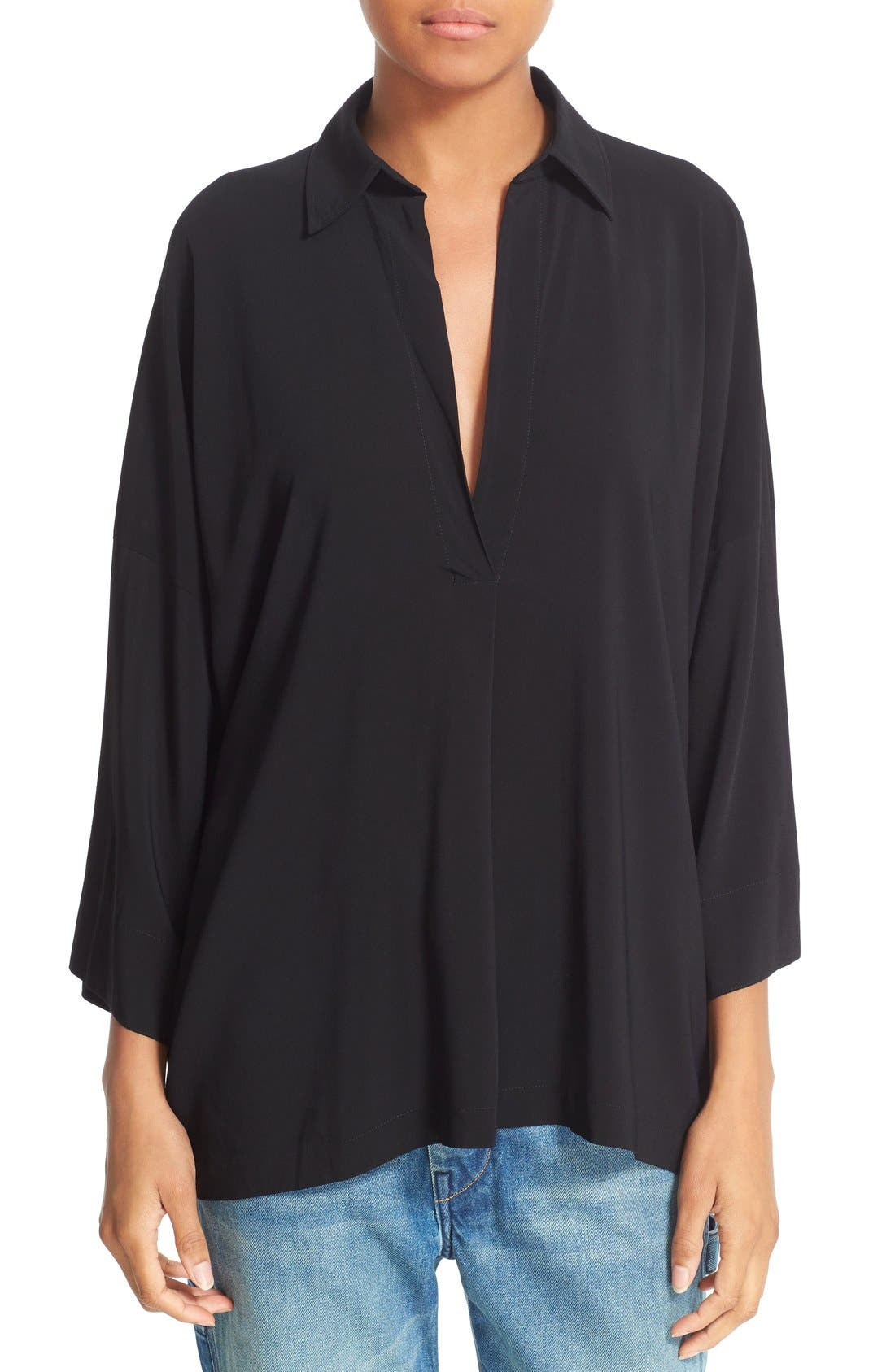 Main Image - Vince Oversize Johnny Collar Blouse