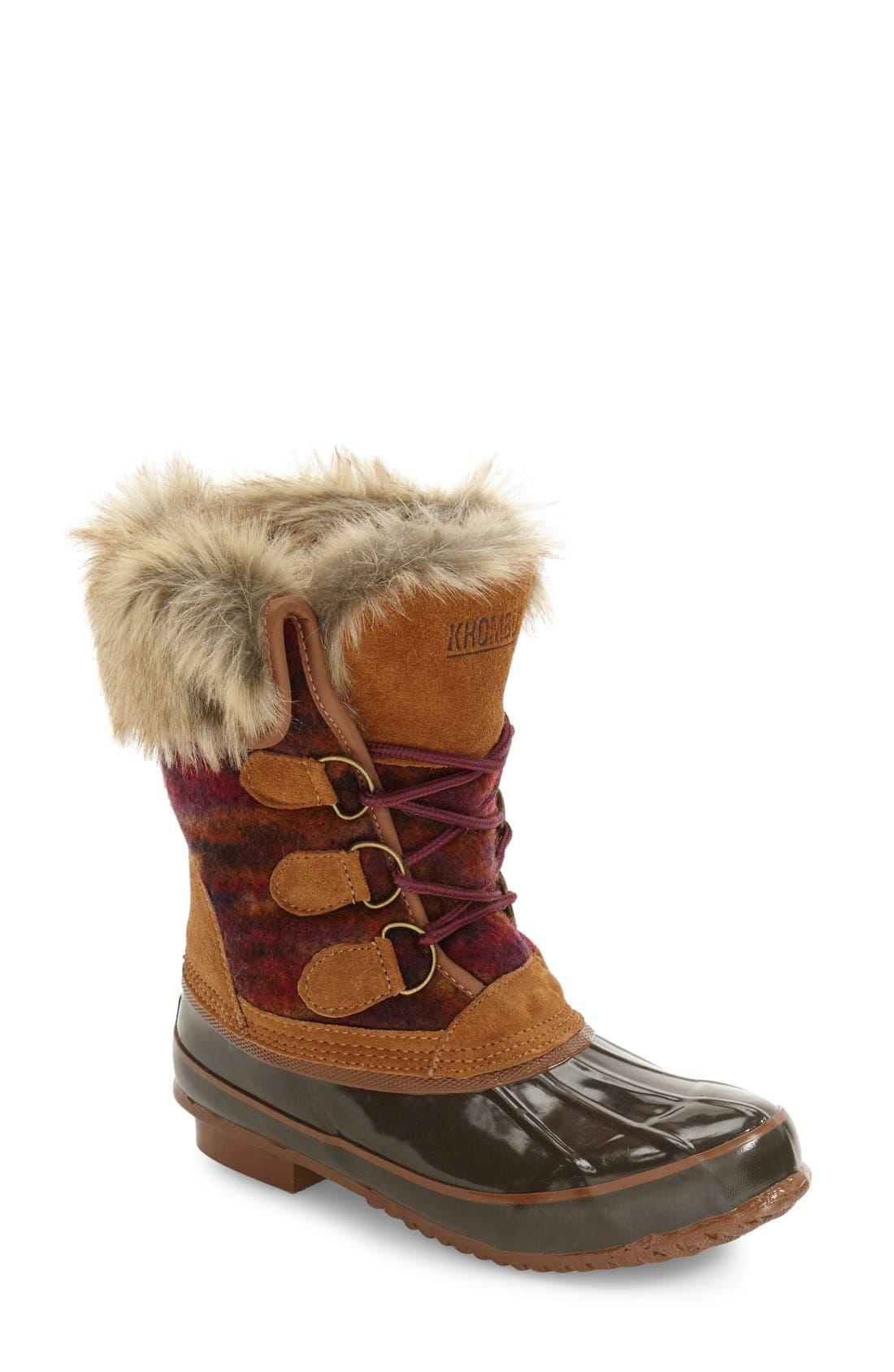 Alternate Image 1 Selected - Khombu Lace-Up Winter Boot (Women)