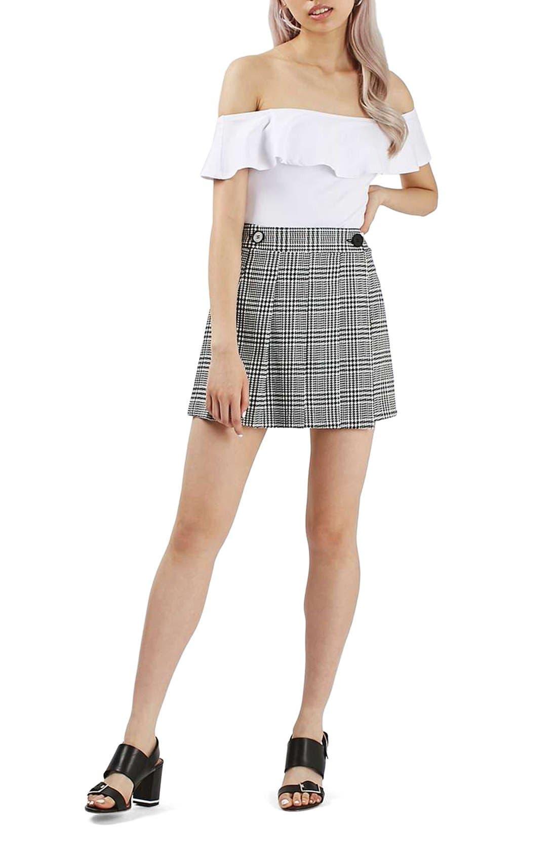 Alternate Image 2  - Topshop Houndstooth Miniskirt
