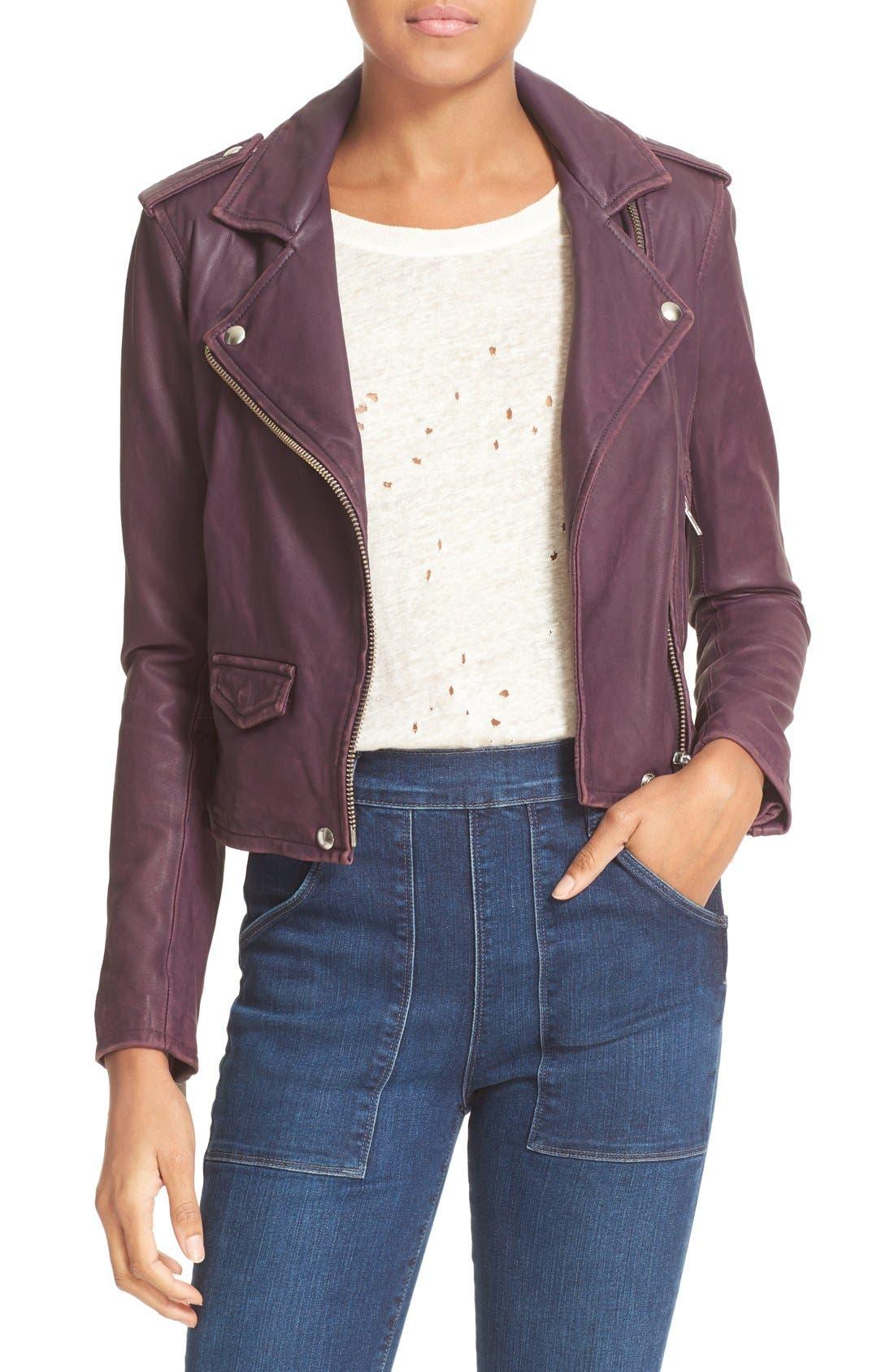 Main Image - IRO 'Ashville' Leather Jacket