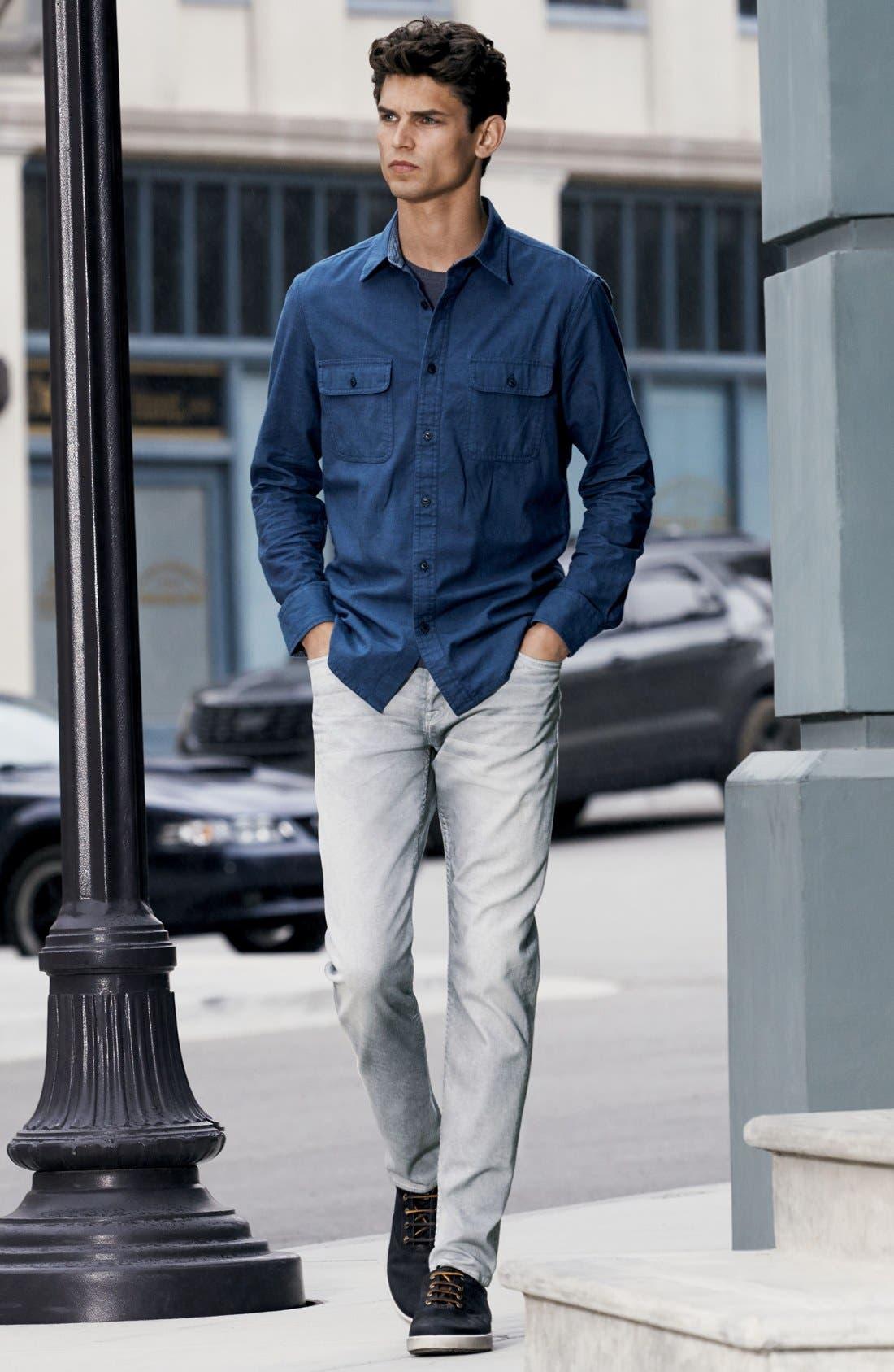 Alternate Image 6  - Hudson Jeans Byron Slim Straight Leg Jeans (Militia Grey)