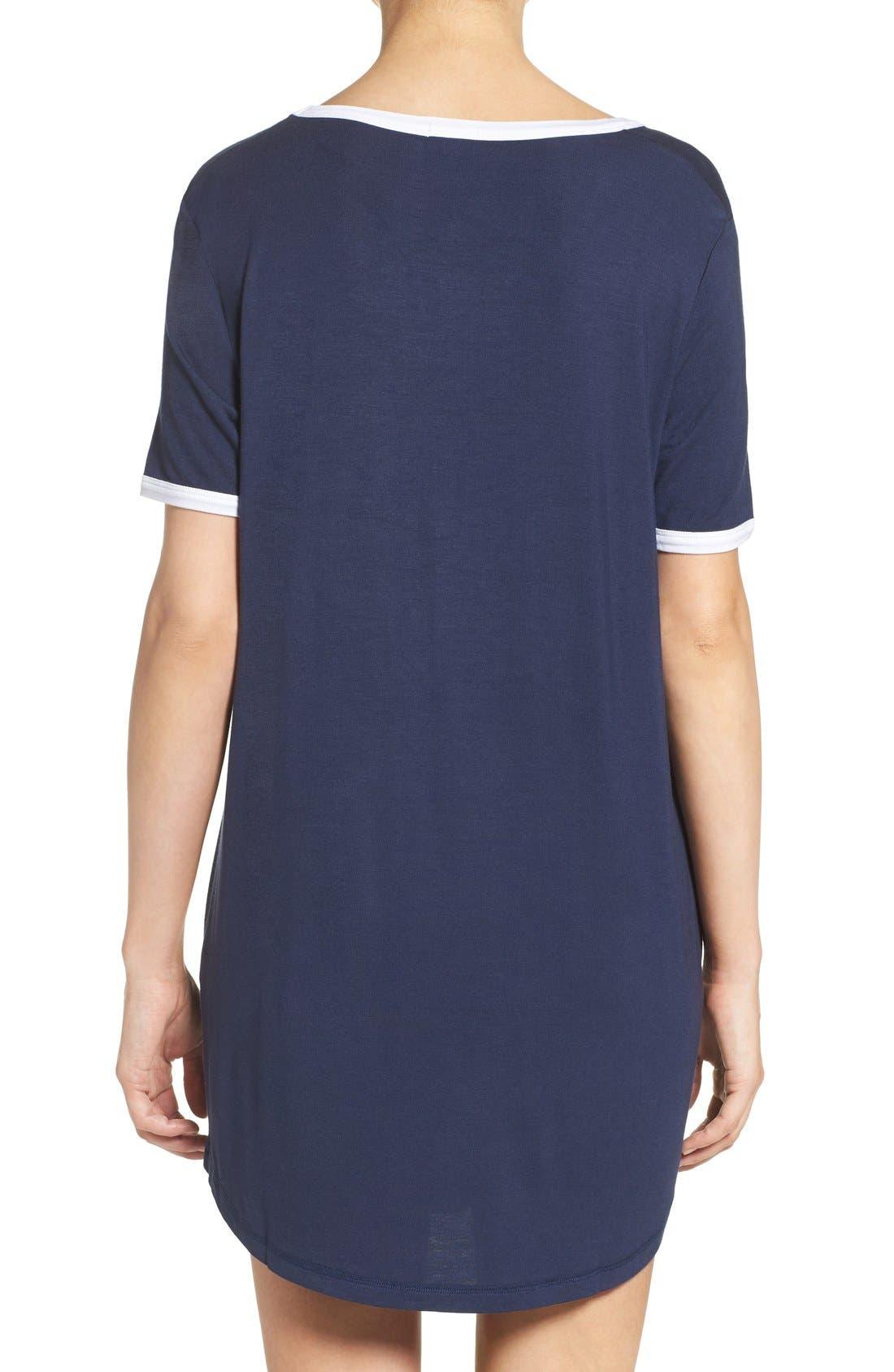 Alternate Image 2  - COZY ZOE Graphic Jersey Sleep Shirt
