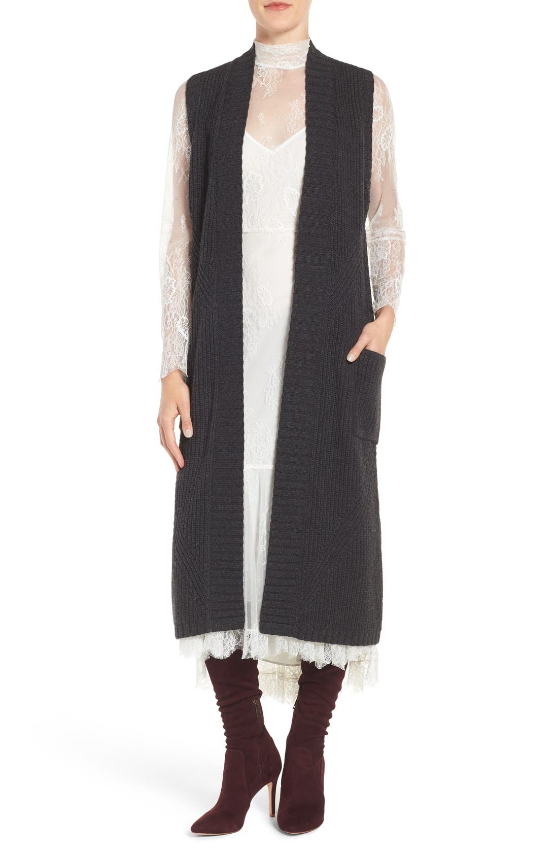 Main Image - Olivia Palermo + Chelsea28 Long Sweater Vest