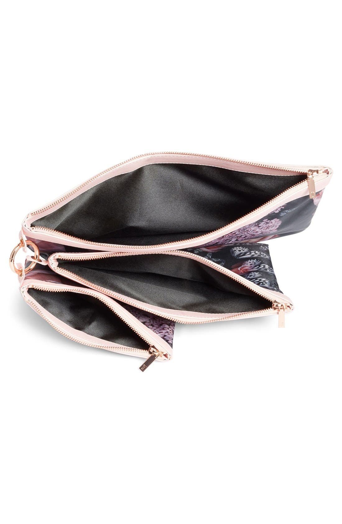 Alternate Image 3  - Ted Baker London Dynamic Butterfly Print 3-Pack Travel Pouch