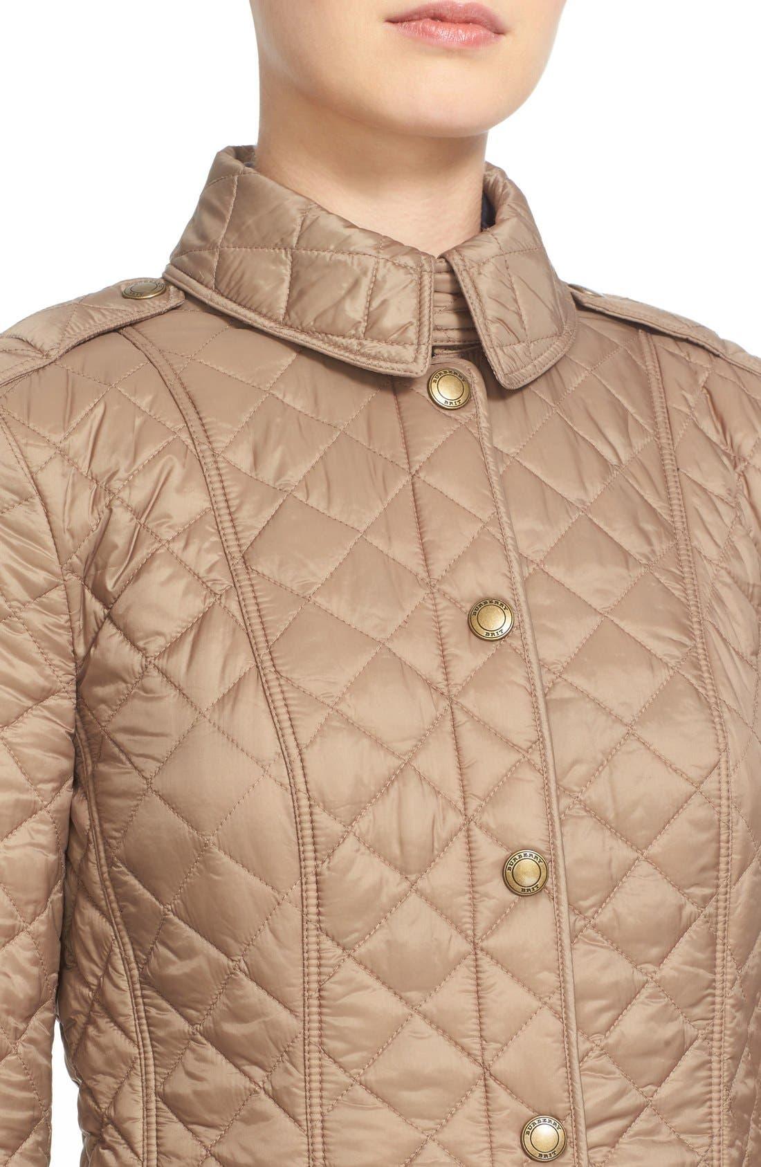 Alternate Image 6  - Burberry Brit 'Kencott' Patch Pocket Quilted Coat