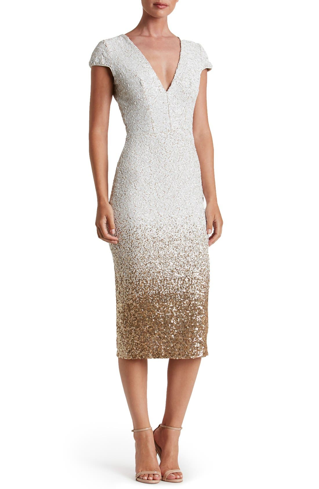 Alternate Image 1 Selected - Dress the Population Cece Sequin Midi Dress