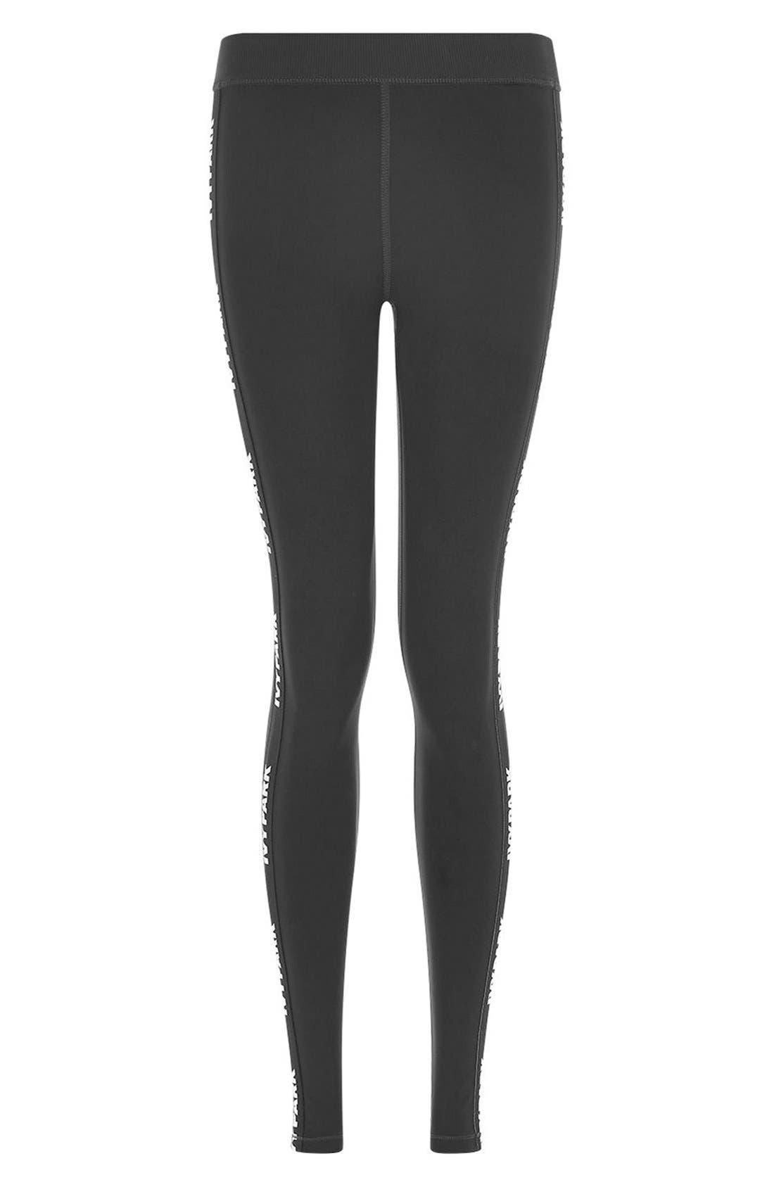 Alternate Image 5  - IVY PARK® Elastic Logo Mid Rise Leggings