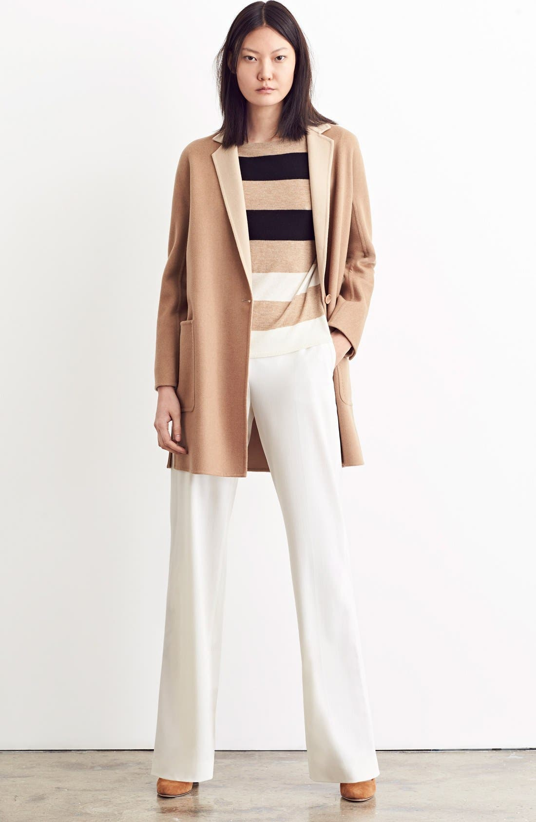 Alternate Image 8  - Max Mara Lillo Wool & Cashmere Bicolor Coat