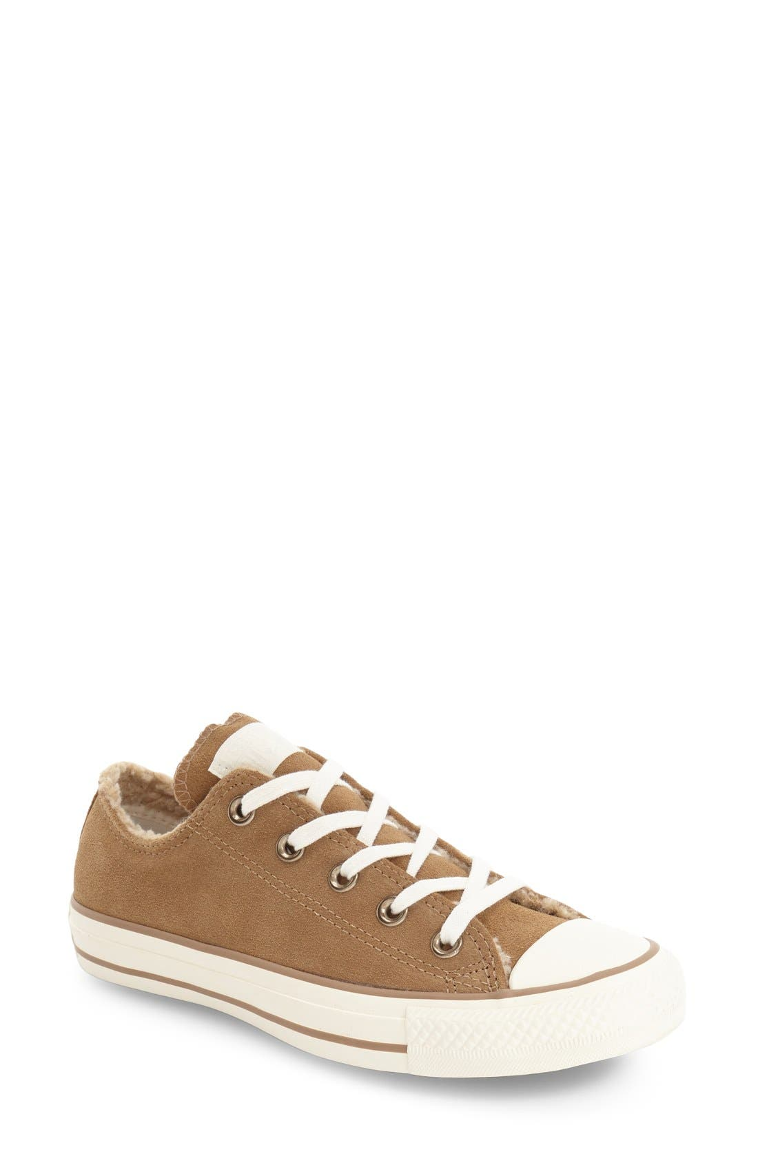 Main Image - Converse Chuck Taylor® All Star® Faux Shearling Lined Low Top Sneaker (Women)
