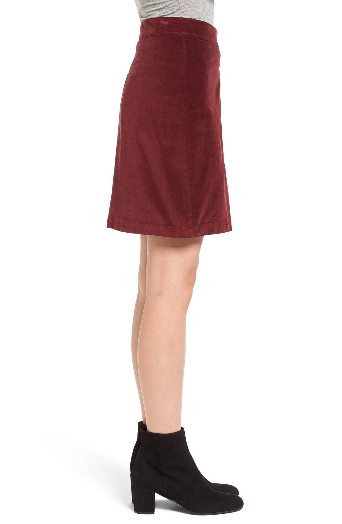 Alternate Image 3  - Madewell Zip Front A-Line Miniskirt