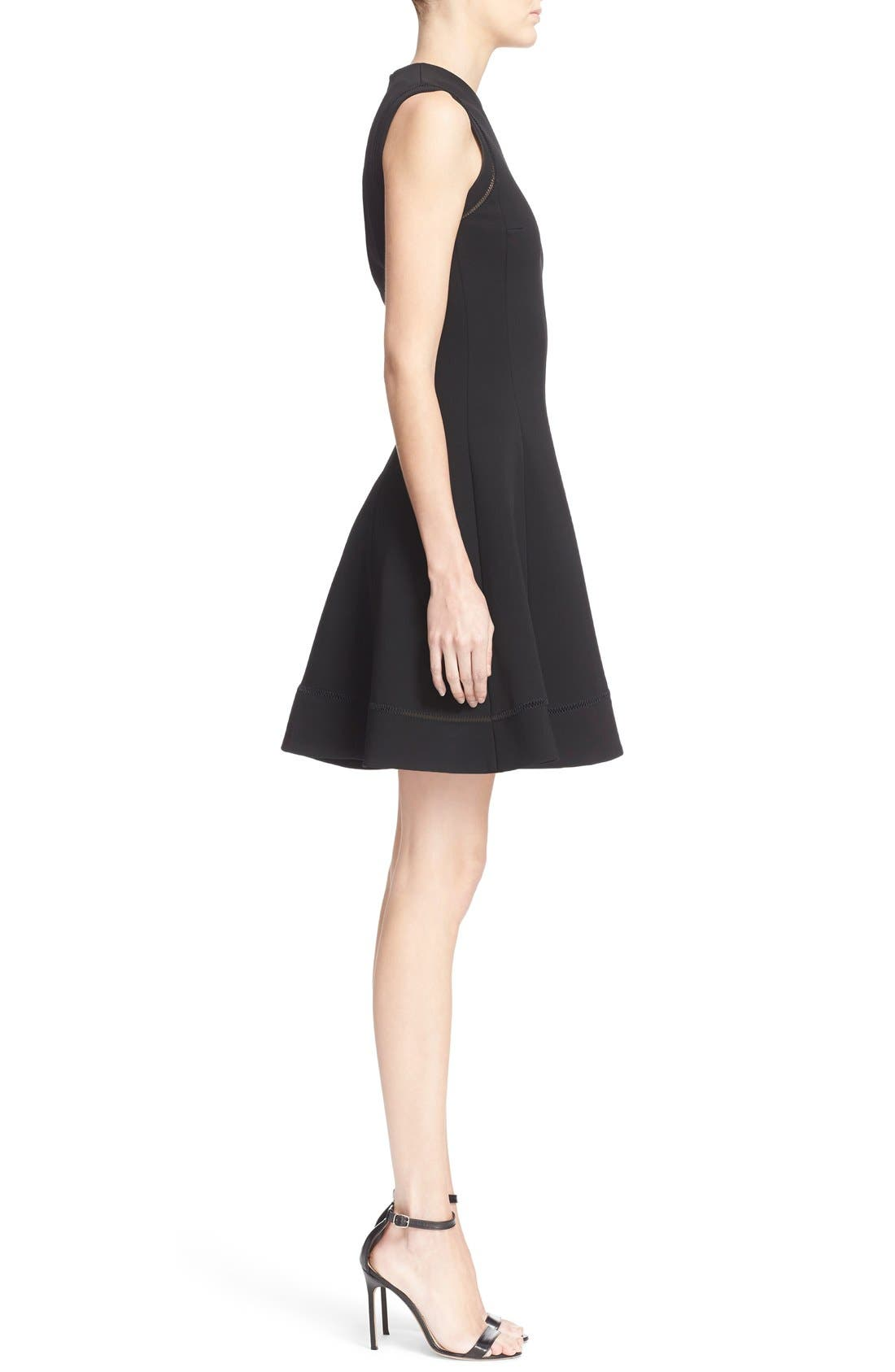 Alternate Image 5  - Victoria Beckham Rib Knit Fit & Flare Dress