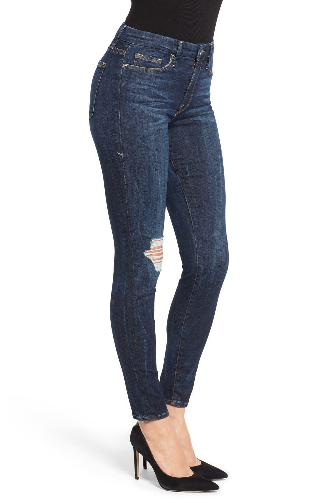 Alternate Image 3  - Good American Good Legs Ripped Skinny Jeans