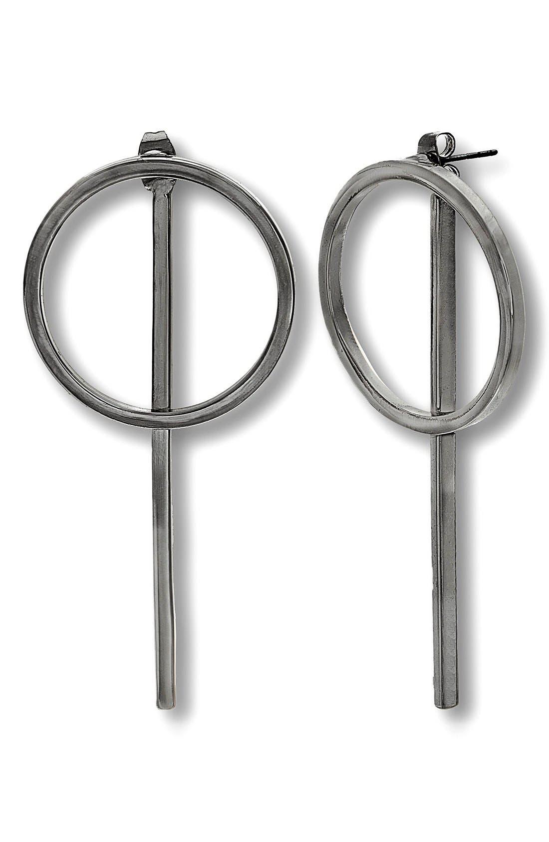 STEVE MADDEN Geometric Front/Back Earrings