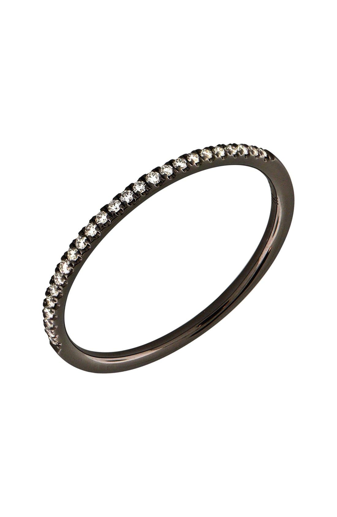 Bony Levy 'Stackable' Straight Diamond Band Ring (Nordstrom Exclusive)