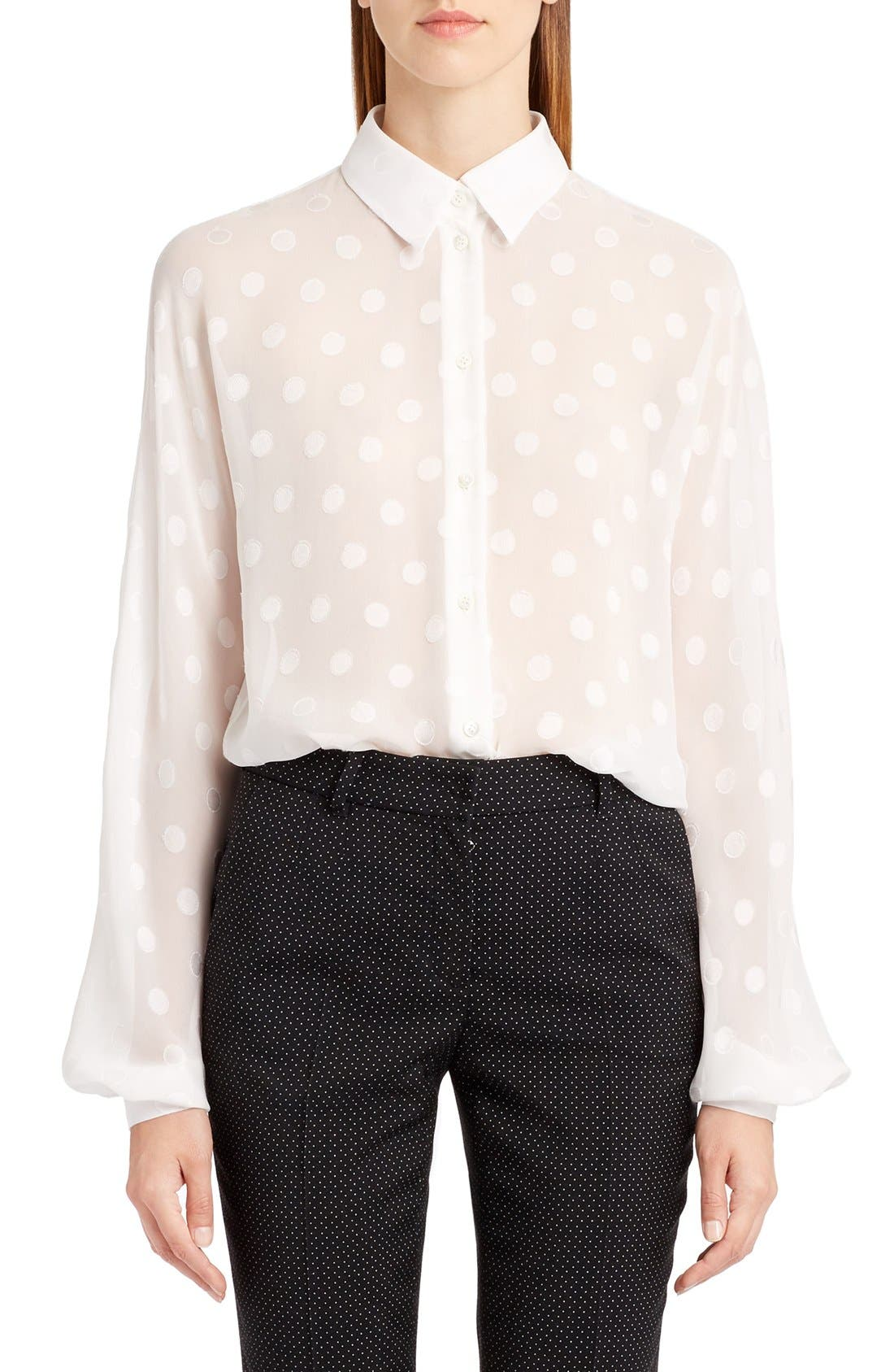 Alternate Image 1 Selected - Dolce&Gabbana Dot Fil Coupé Blouse