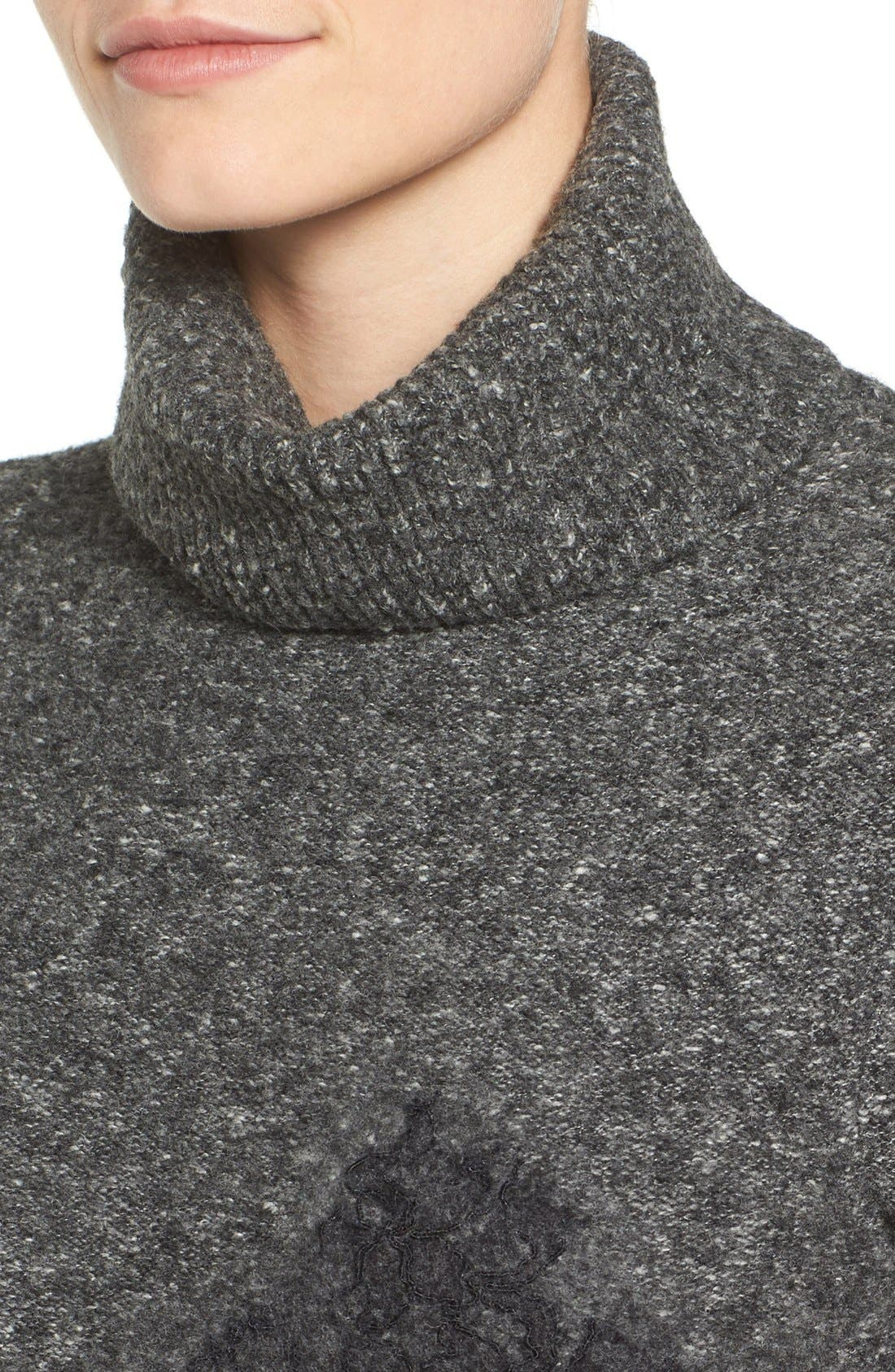 Alternate Image 4  - MICHAEL Michael Kors Needle Punched Lace Sweater Dress