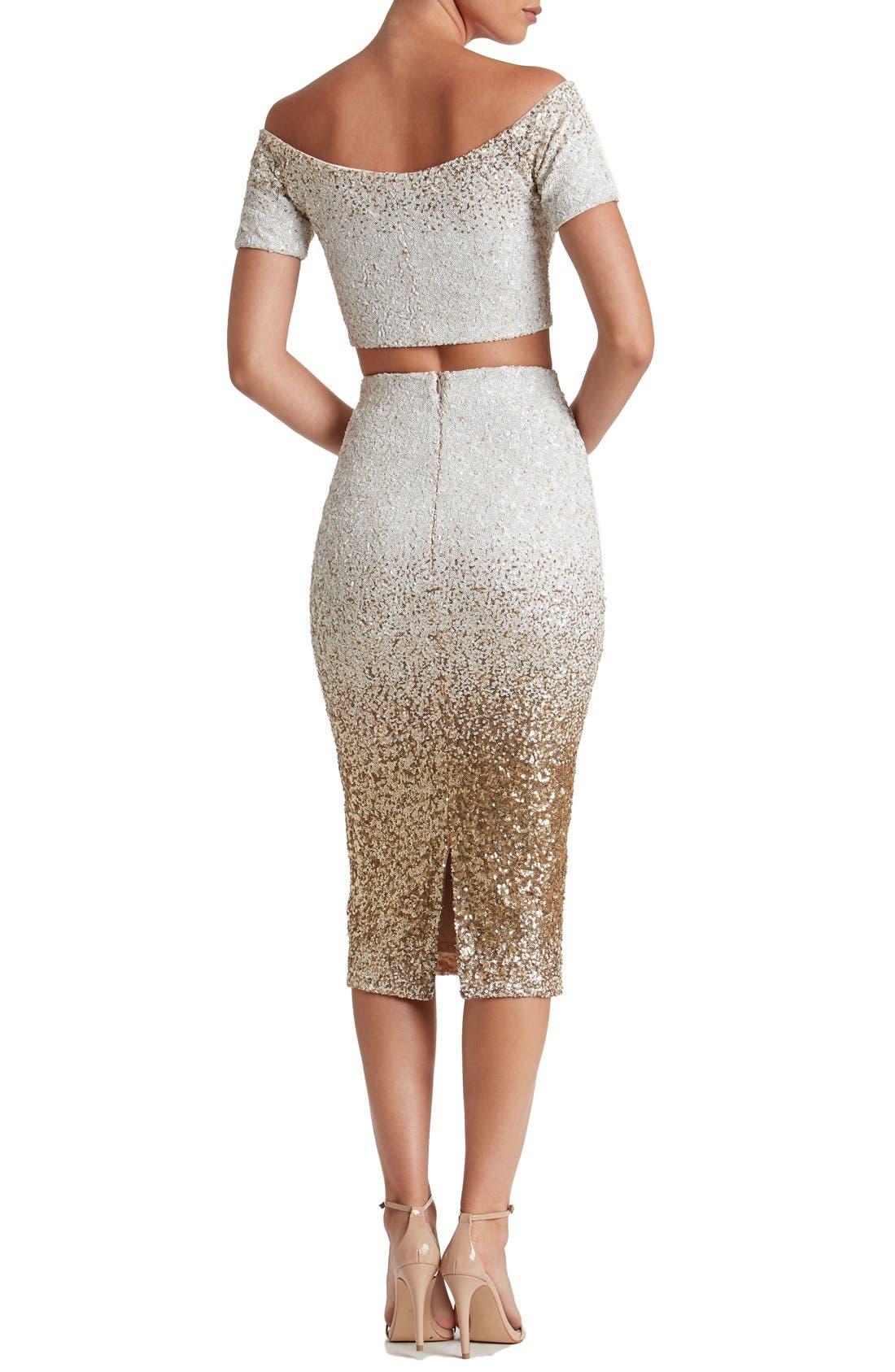 Alternate Image 3  - Dress the Population Emilia Sequin Two-Piece Dress