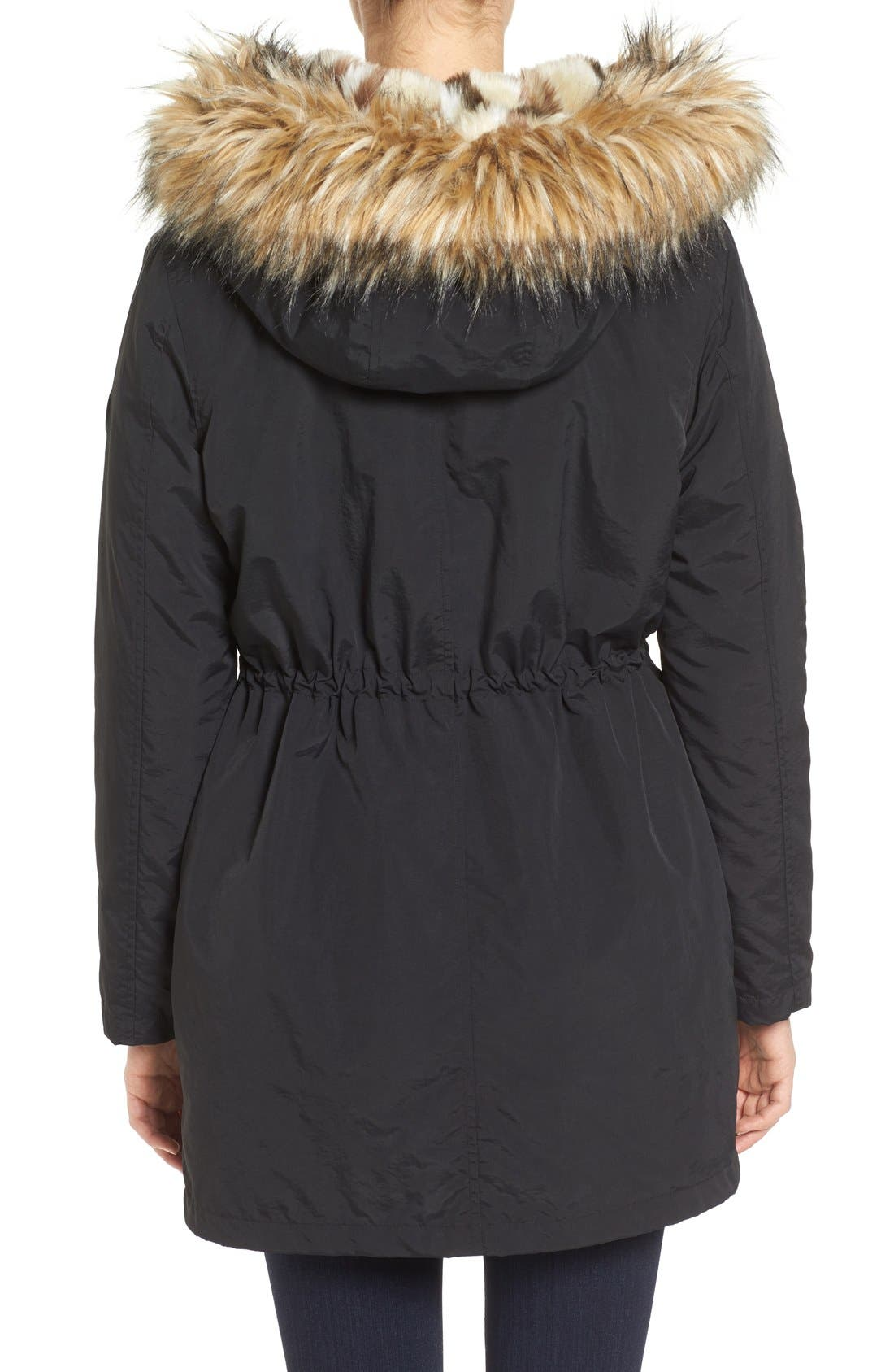 Alternate Image 2  - Steve Madden 'Taslon' Parka with Faux-Fur Trim Hood