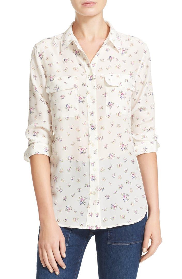 Equipment slim signature floral silk shirt nordstrom for Equipment signature silk shirt