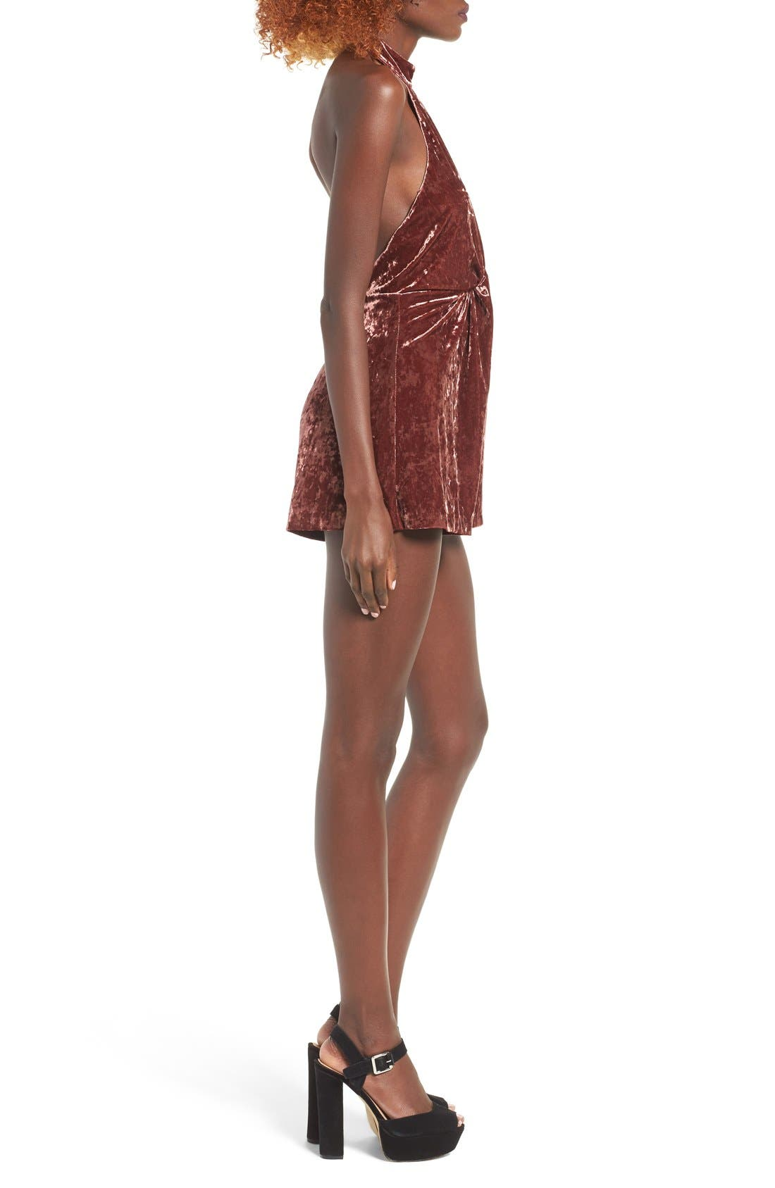 Alternate Image 3  - ASTR Loretta Velvet Romper
