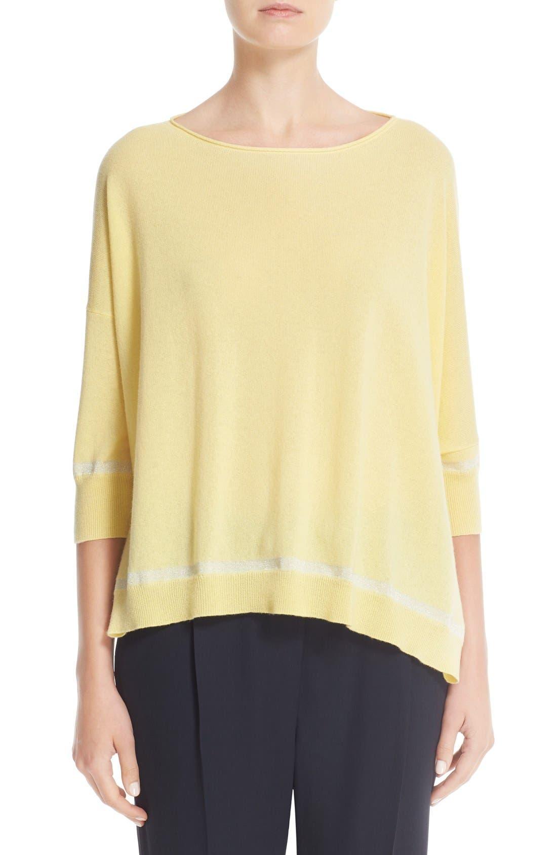 FABIANA FILIPPI Metallic Stripe Sweater
