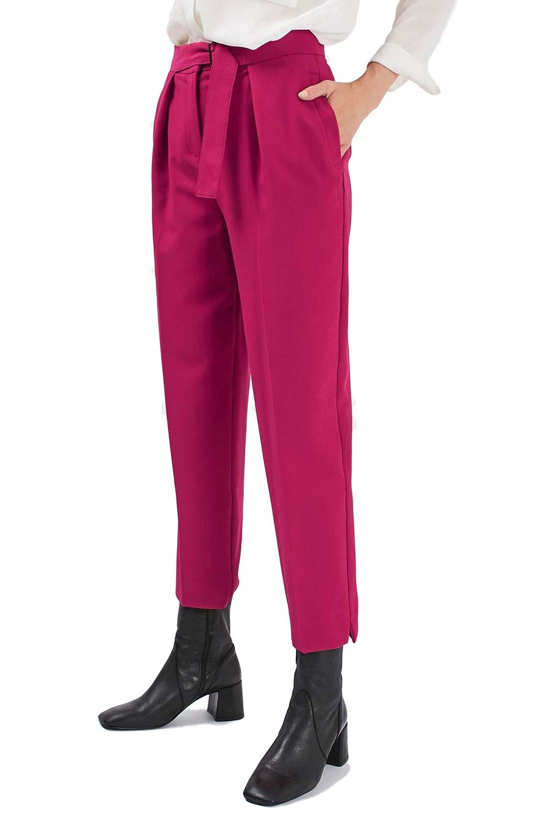 Alternate Image 1 Selected - Topshop Slider Utility Peg Trousers (Regular & Petite)