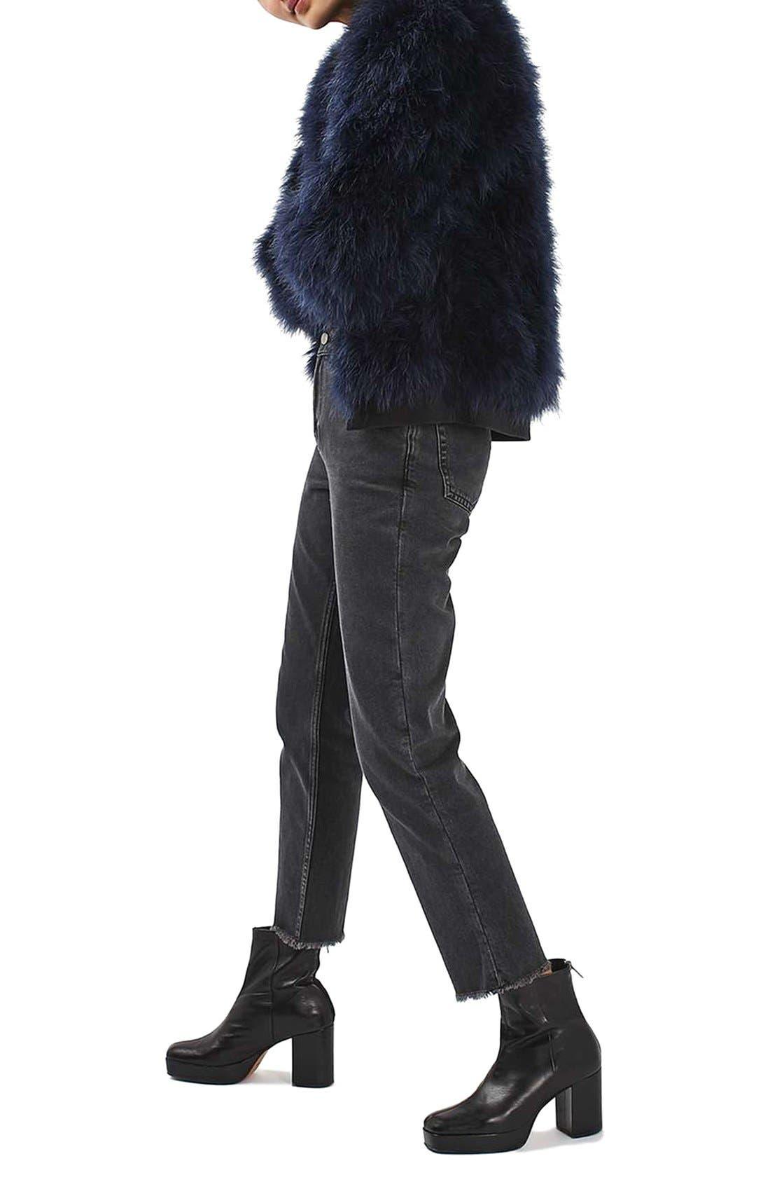 Alternate Image 2  - Topshop Ozzy Marabou Feather Coat
