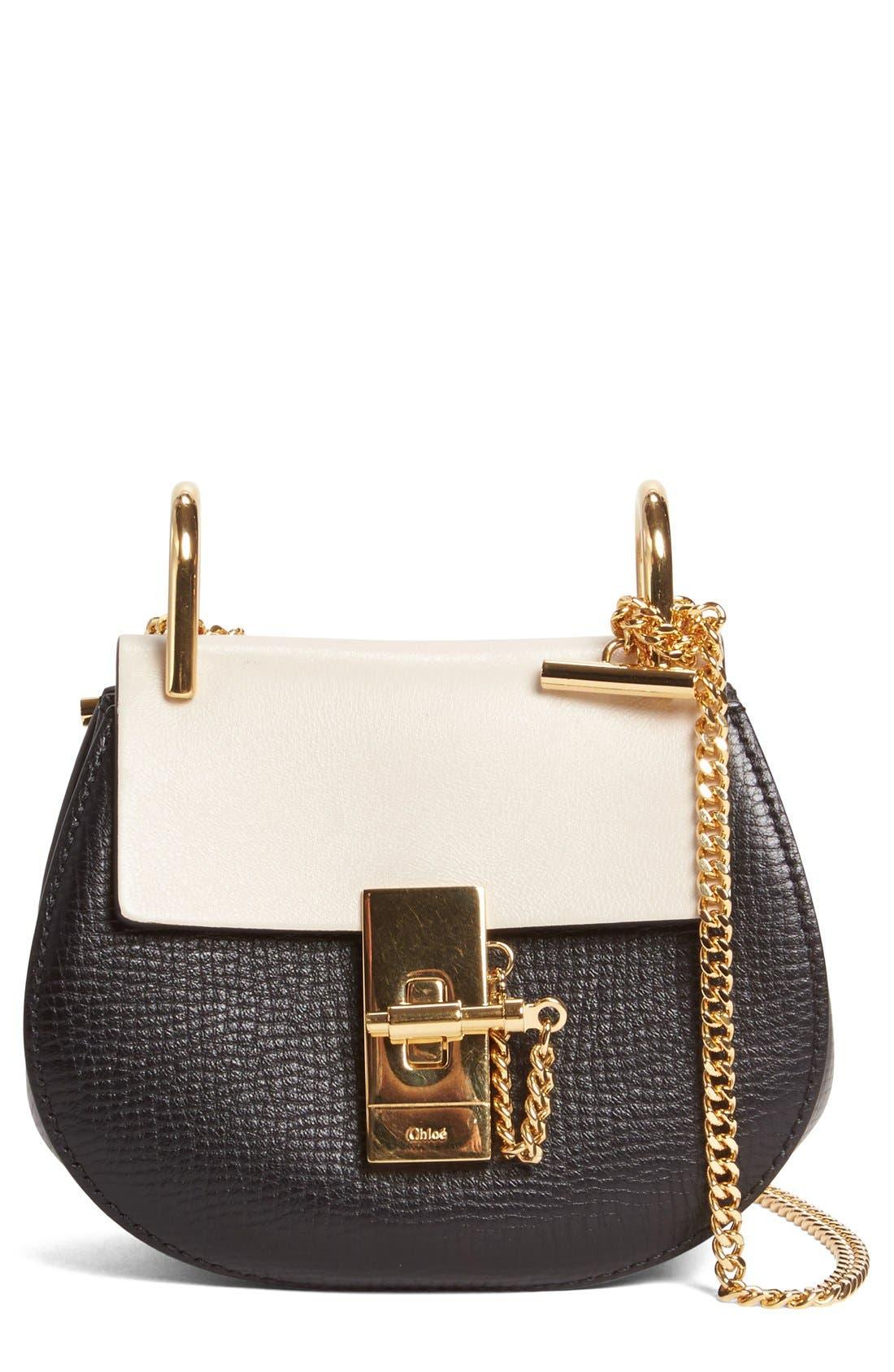 Chloé Nano Drew Calfskin Shoulder Bag