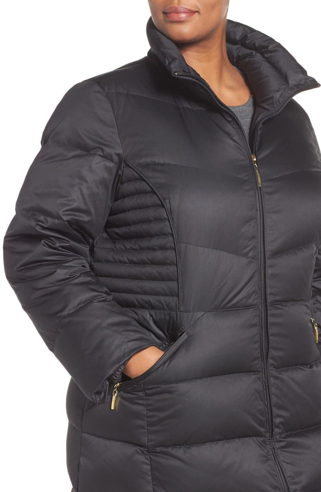 Alternate Image 4  - Ellen Tracy Faux Fur Trim Down Coat
