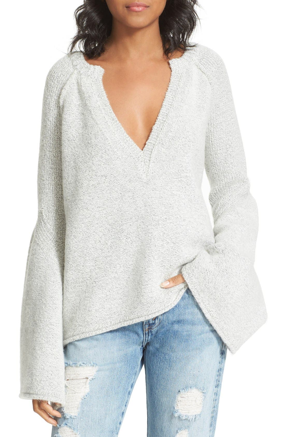Free People Lovely Lines Bell Sleeve Sweater