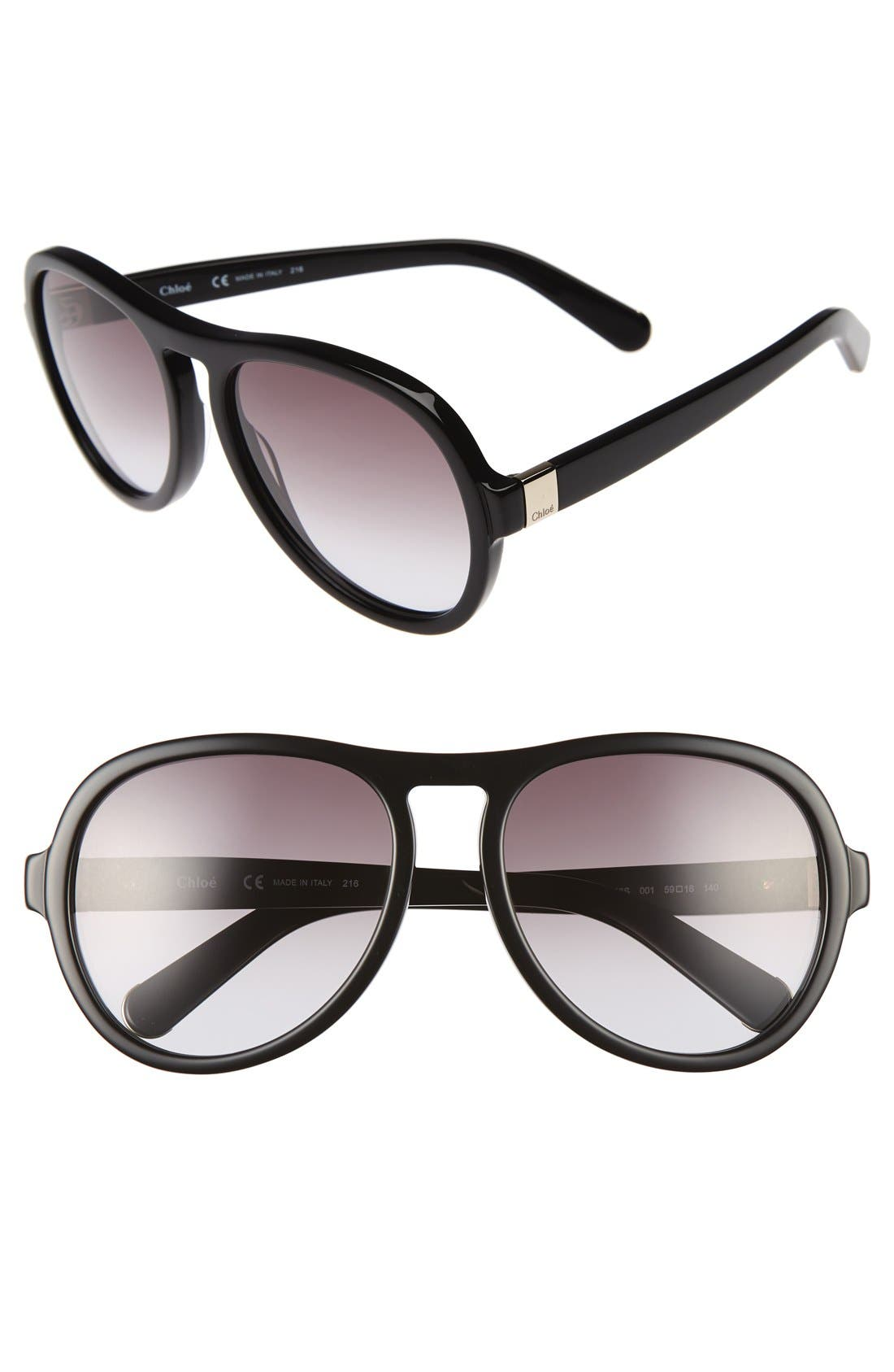 Chloé Marlow 59mm Oversized Sunglasses