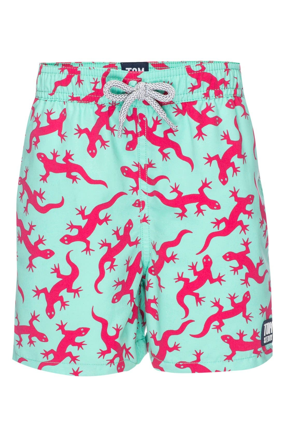 Tom & Teddy Lizards Swim Trunks (Toddler Boys, Little Boys & Big Boys)