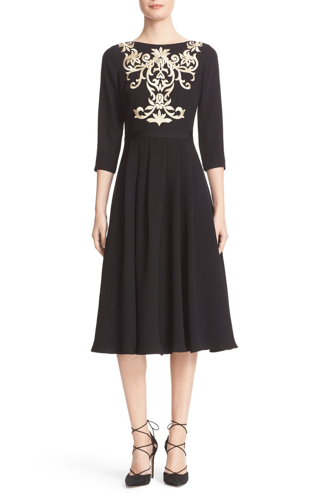 Ted Baker London Shamari Embroidered Midi Dress