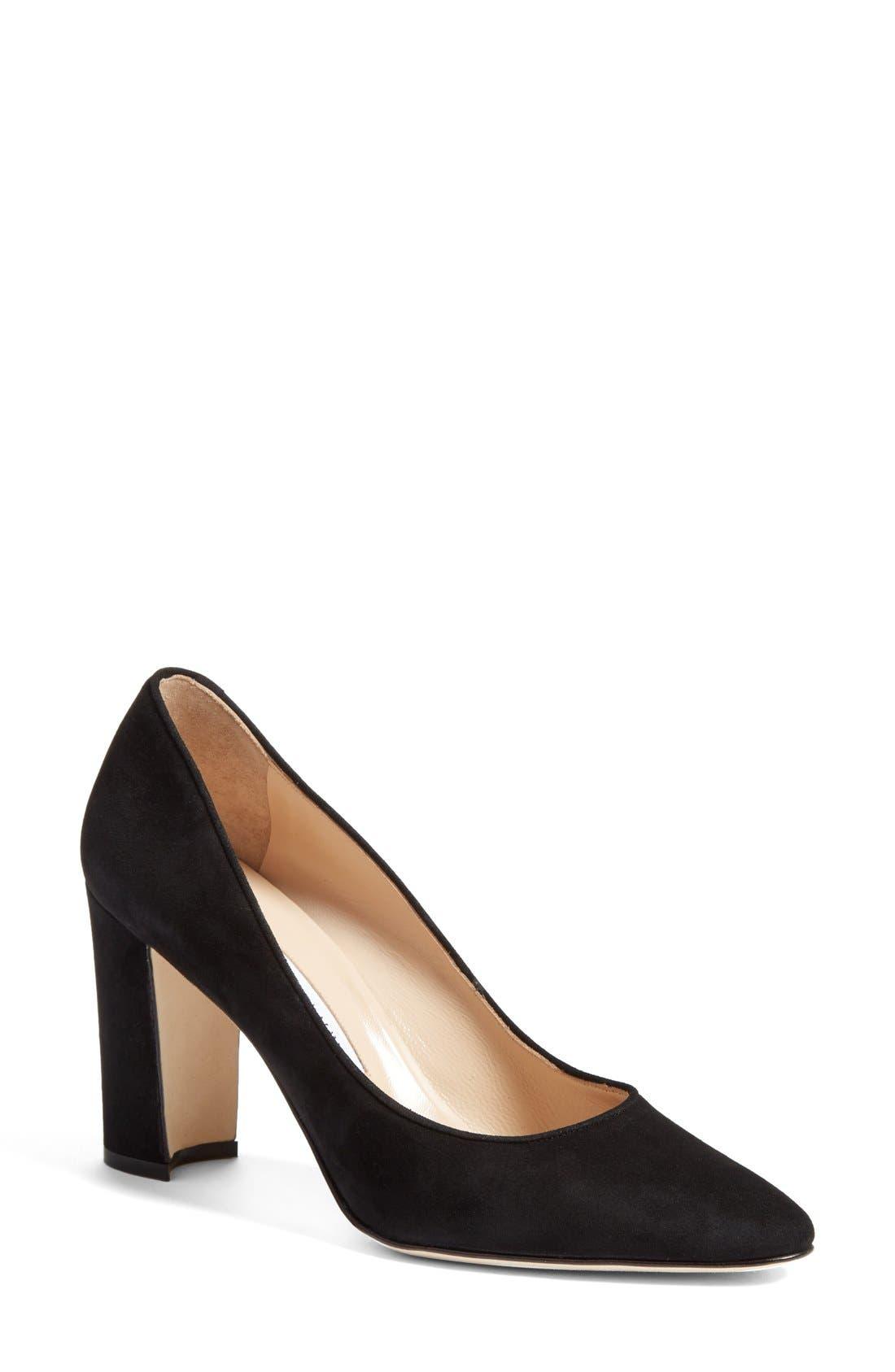 Manolo Blahnik Tucciototo Block Heel Pump (Women)