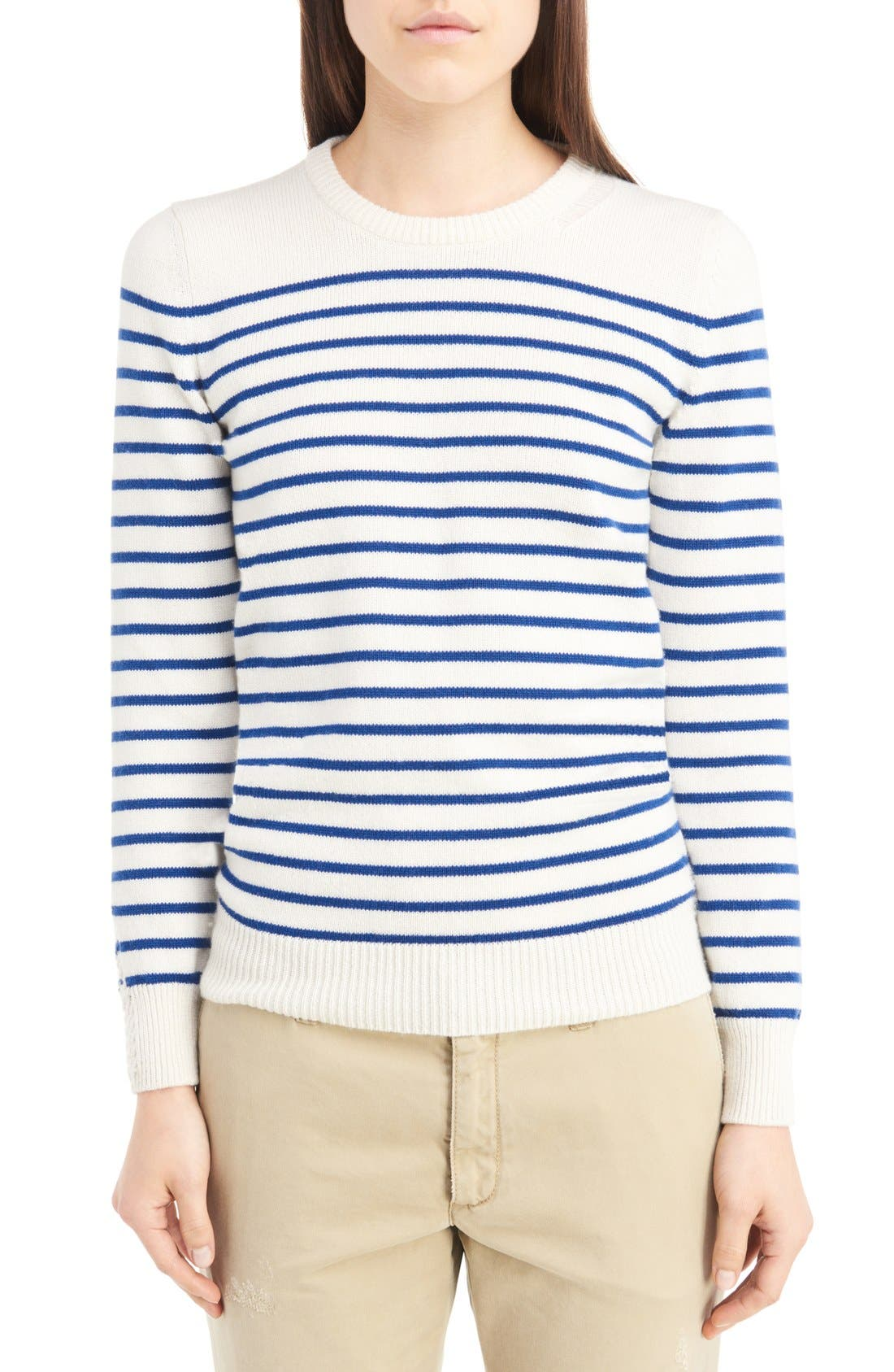 SAINT LAURENT Grunge Stripe Cashmere Sweater