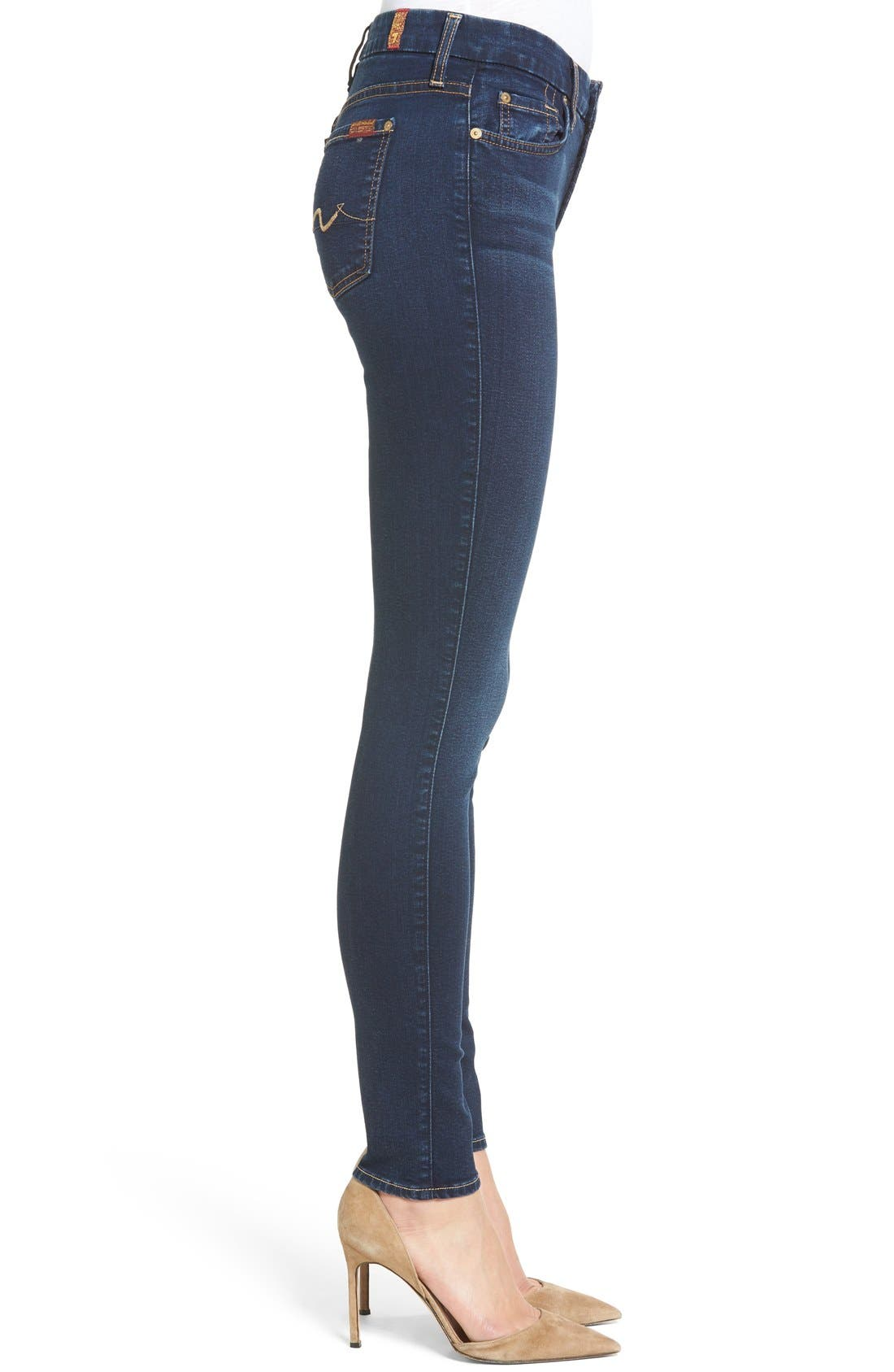Alternate Image 3  - 7 For All Mankind® b(air) Skinny Jeans (Bair Tranquil Blue)