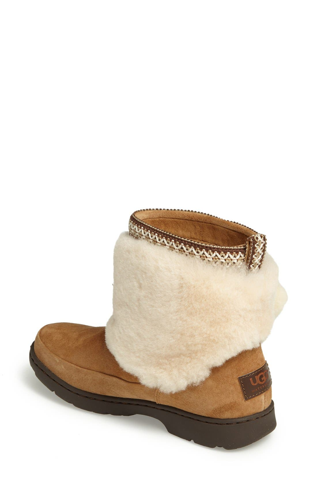 Alternate Image 2  - UGG® Brie Genuine Shearling Waterproof Bootie (Women)