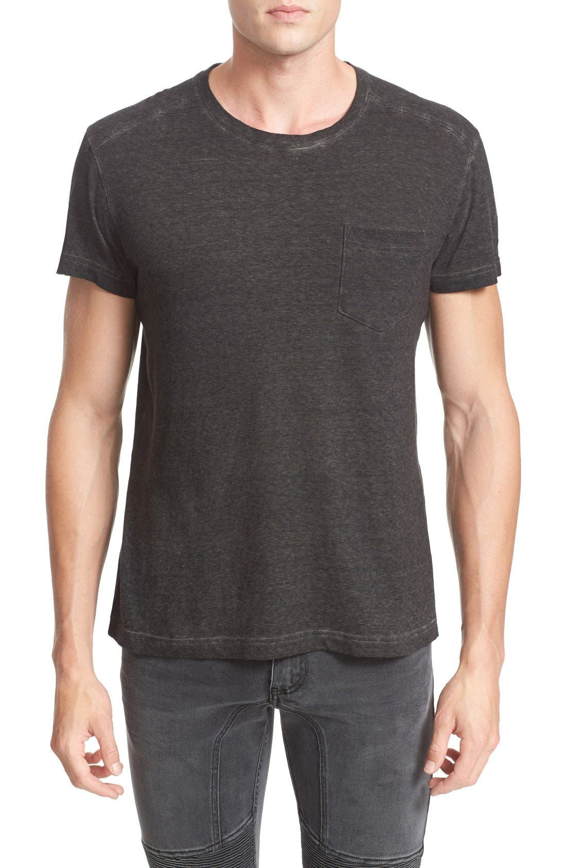 BELSTAFF Crossfell Extra Trim Fit Stripe Jersey T-Shirt