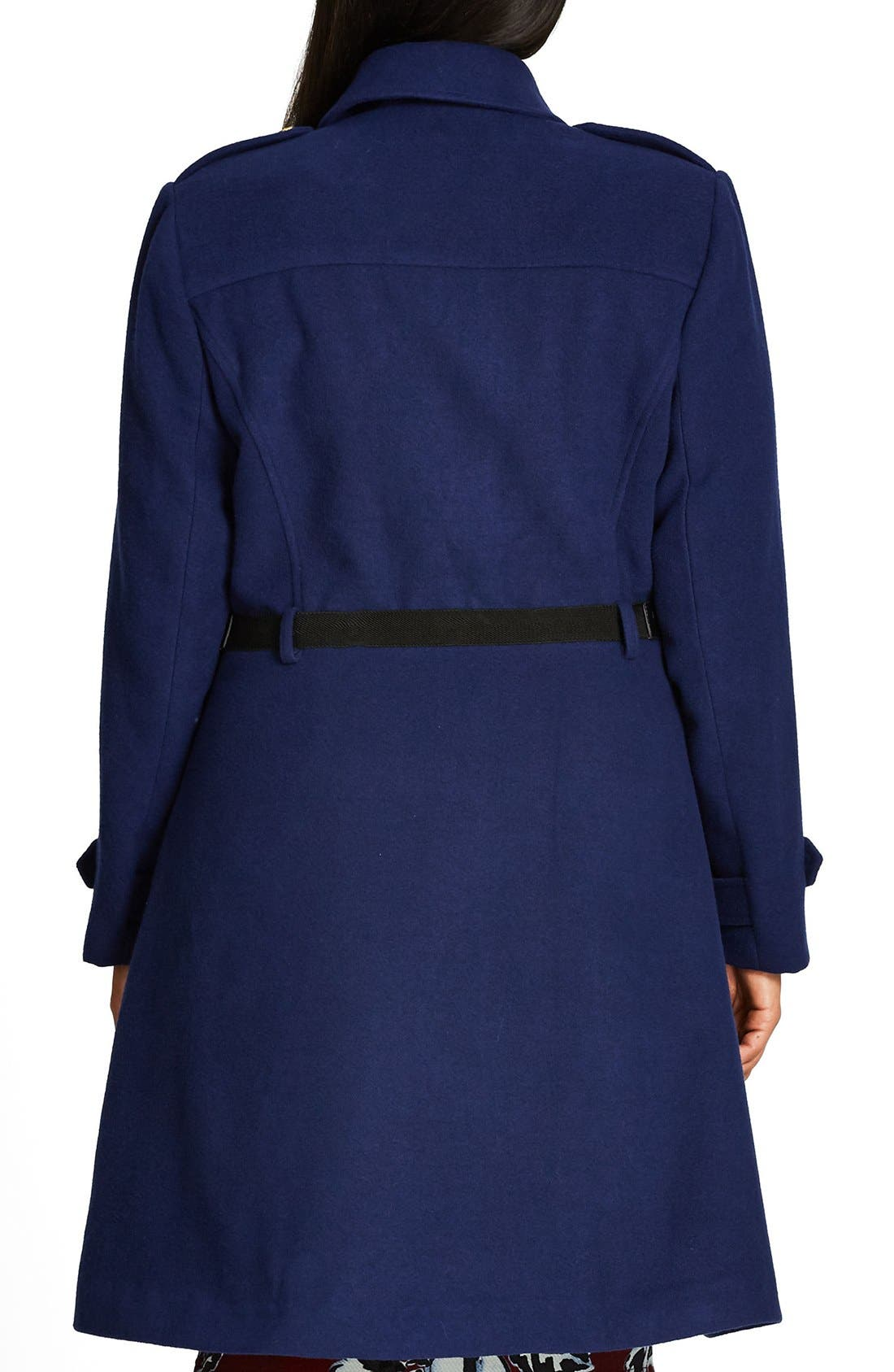 Alternate Image 3  - City Chic Double Agent Belted Coat