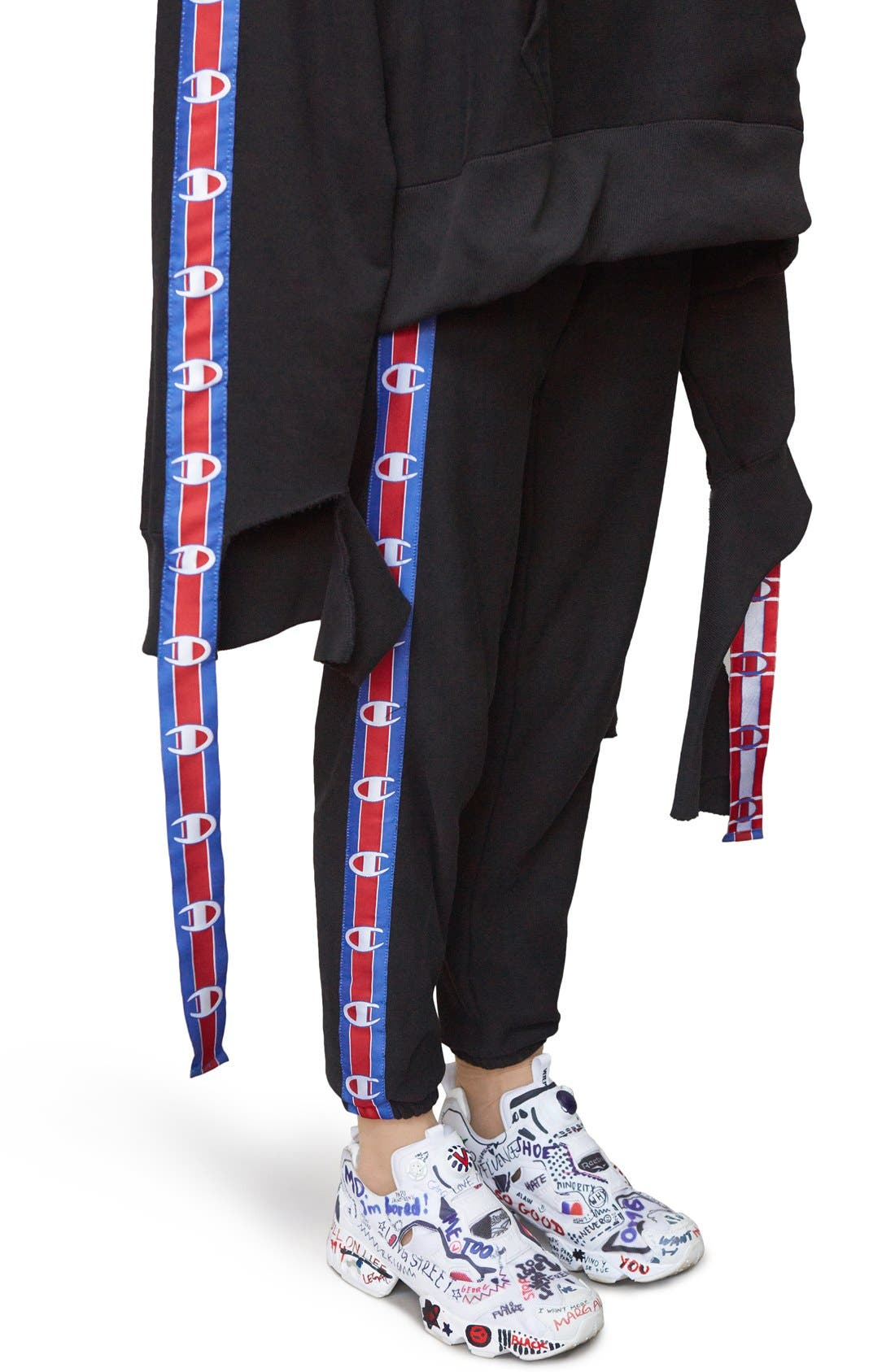 Alternate Image 2  - Vetements x Champion Taped Sweatpants