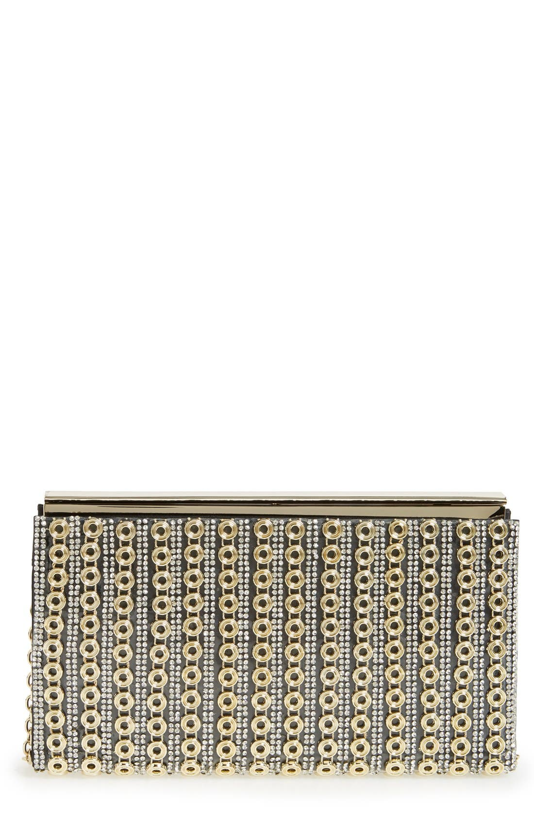 Alternate Image 1 Selected - Sondra Roberts Crystal & Chain Clutch