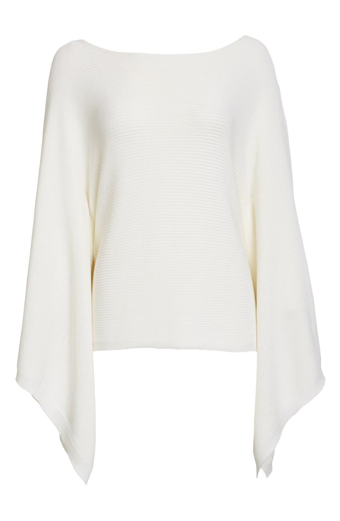 Alternate Image 4  - Lafayette 148 New York Crop Silk & Cotton Kimono Sweater
